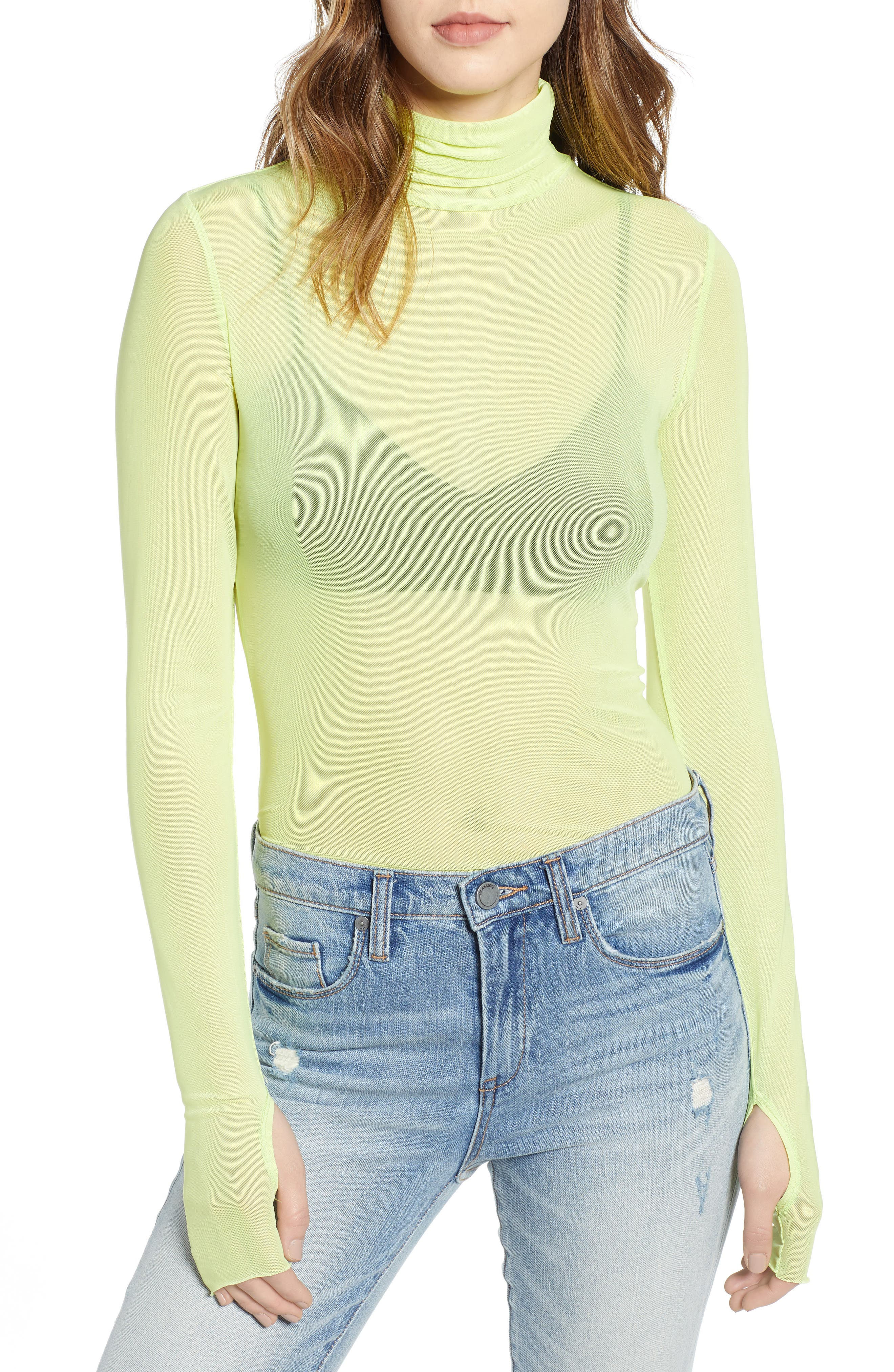 Zadie Semi Sheer Turtleneck, Main, color, 320