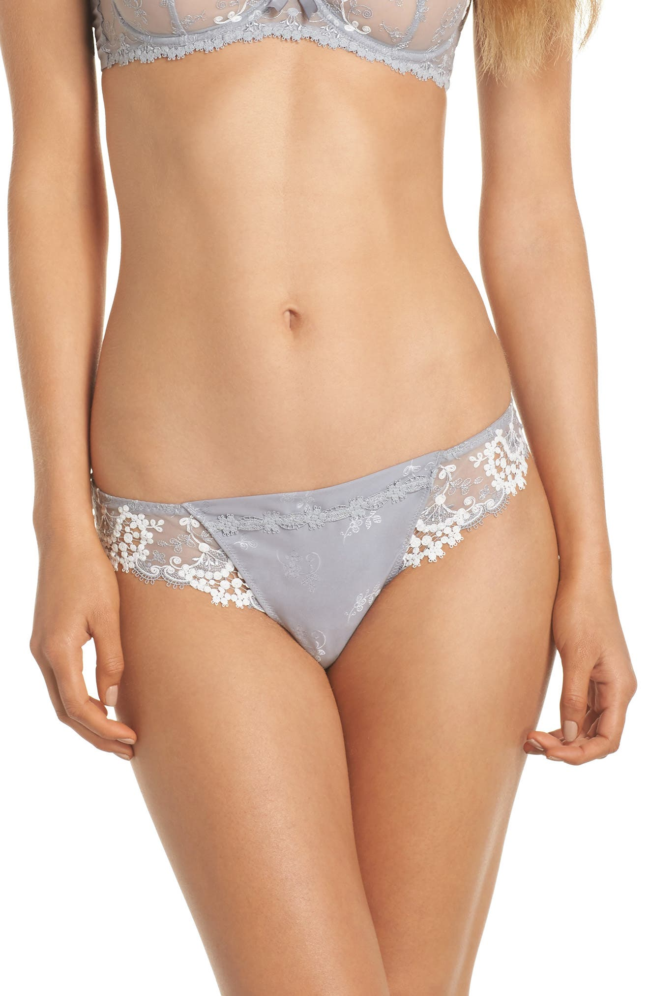 'Wish' Embroidered Tanga Thong,                             Main thumbnail 1, color,                             020
