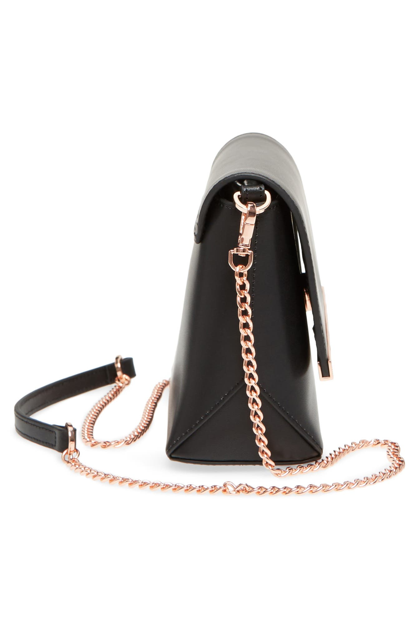 Bow Embossed Leather Crossbody Bag,                             Alternate thumbnail 13, color,