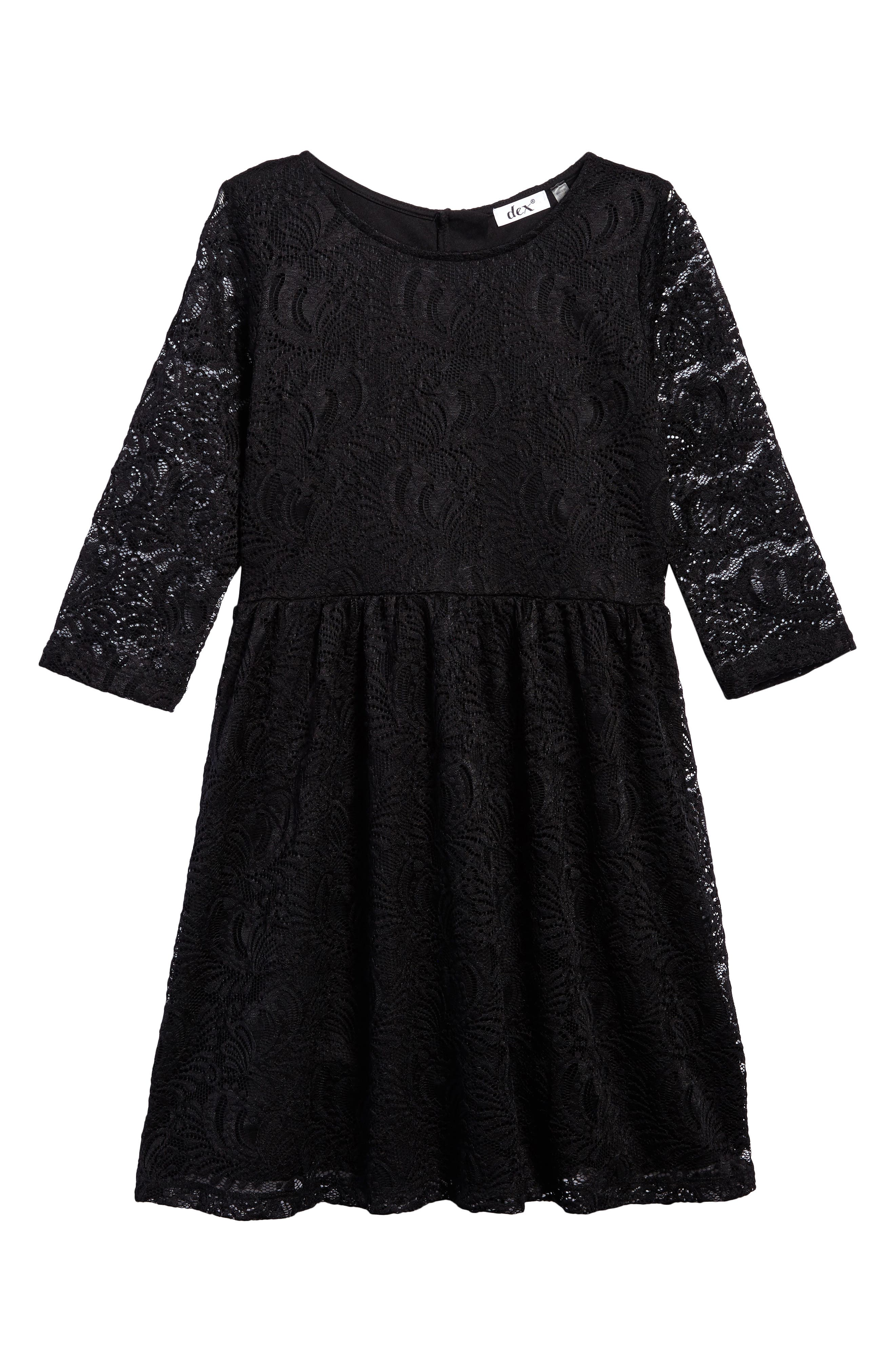 Lace Party Dress,                             Main thumbnail 1, color,                             001