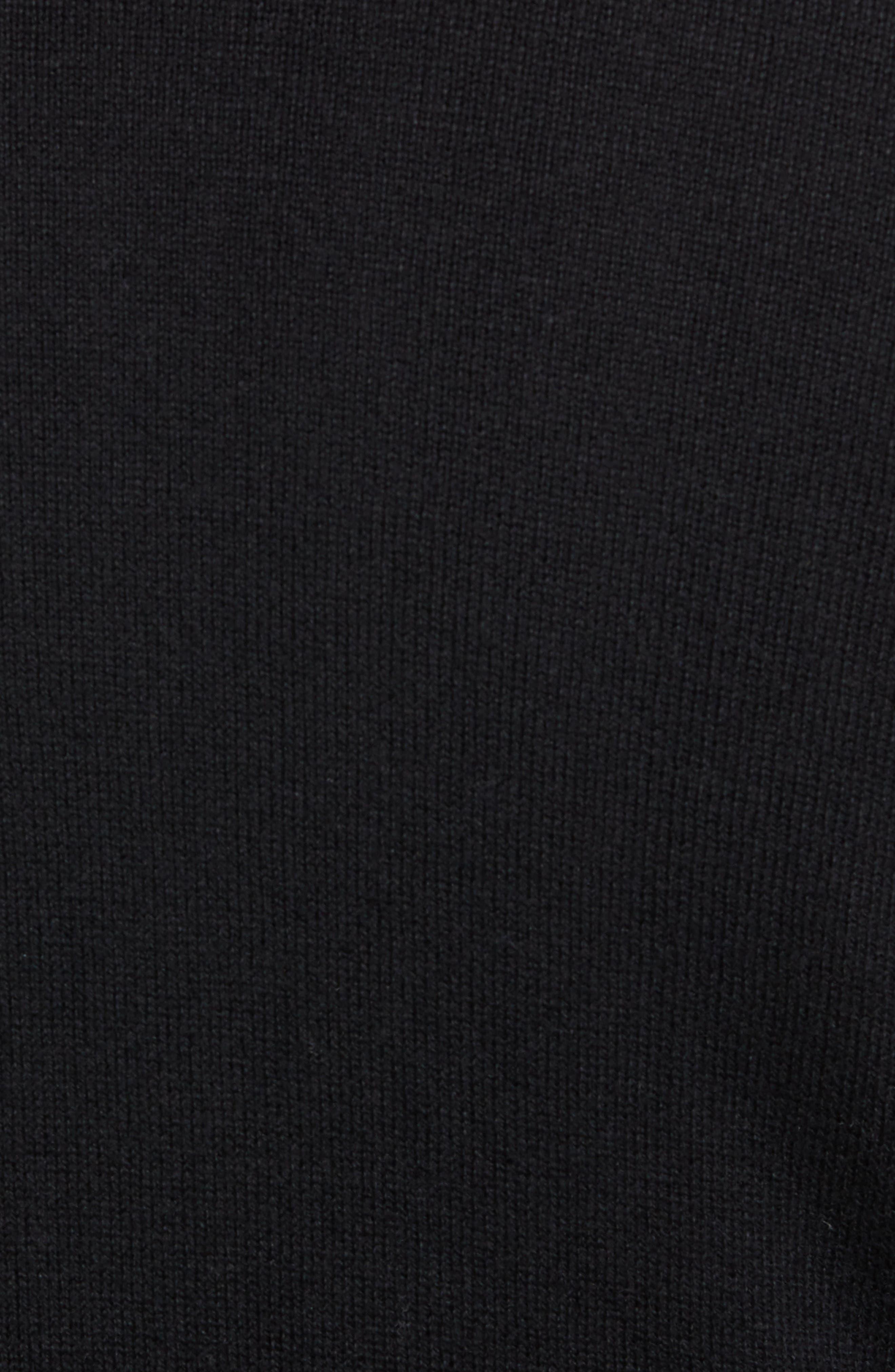Yorkville Zip Sweater,                             Alternate thumbnail 5, color,                             BLACK