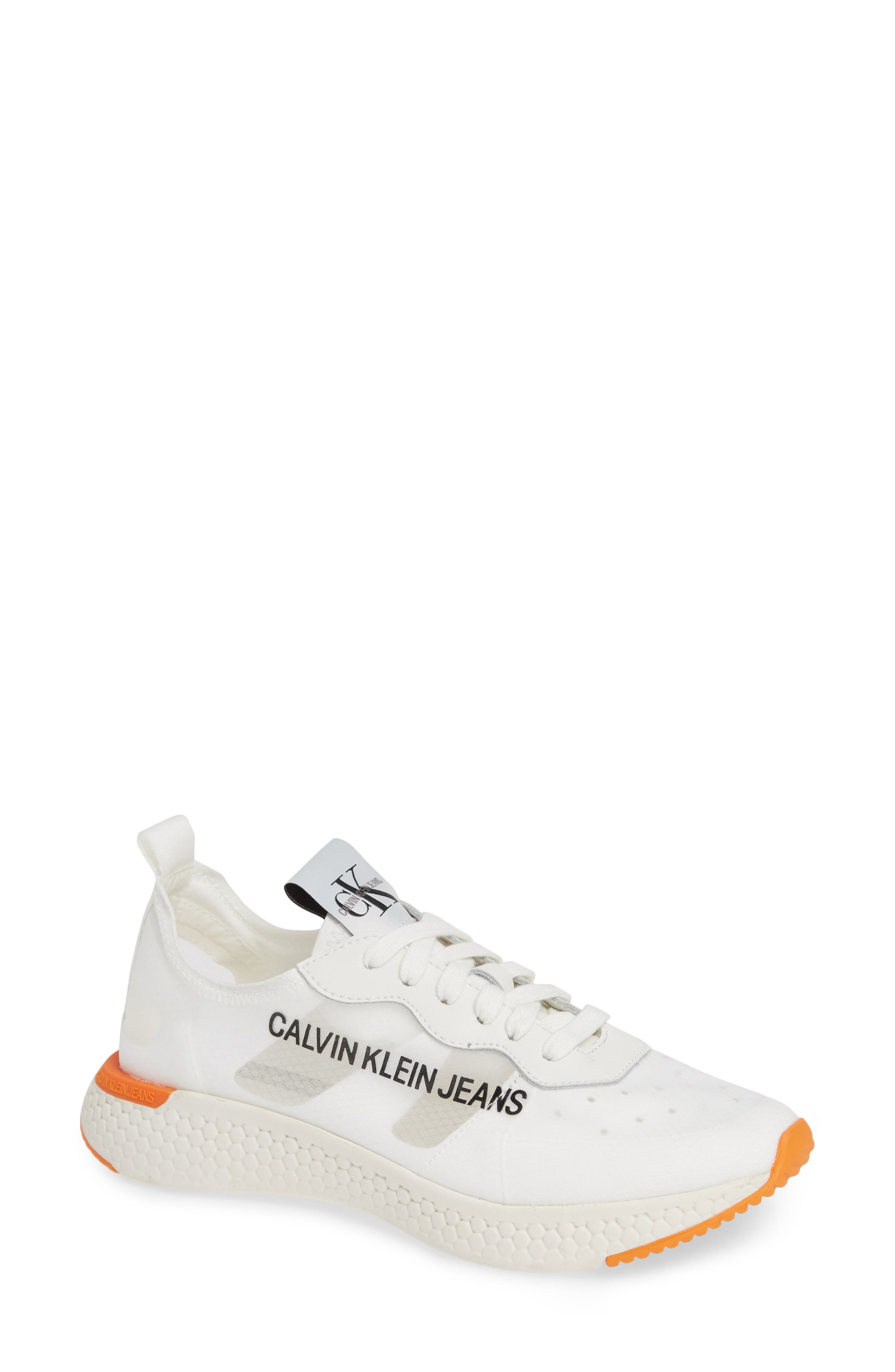 Alexia Logo Sneaker in Bright White/ Suede