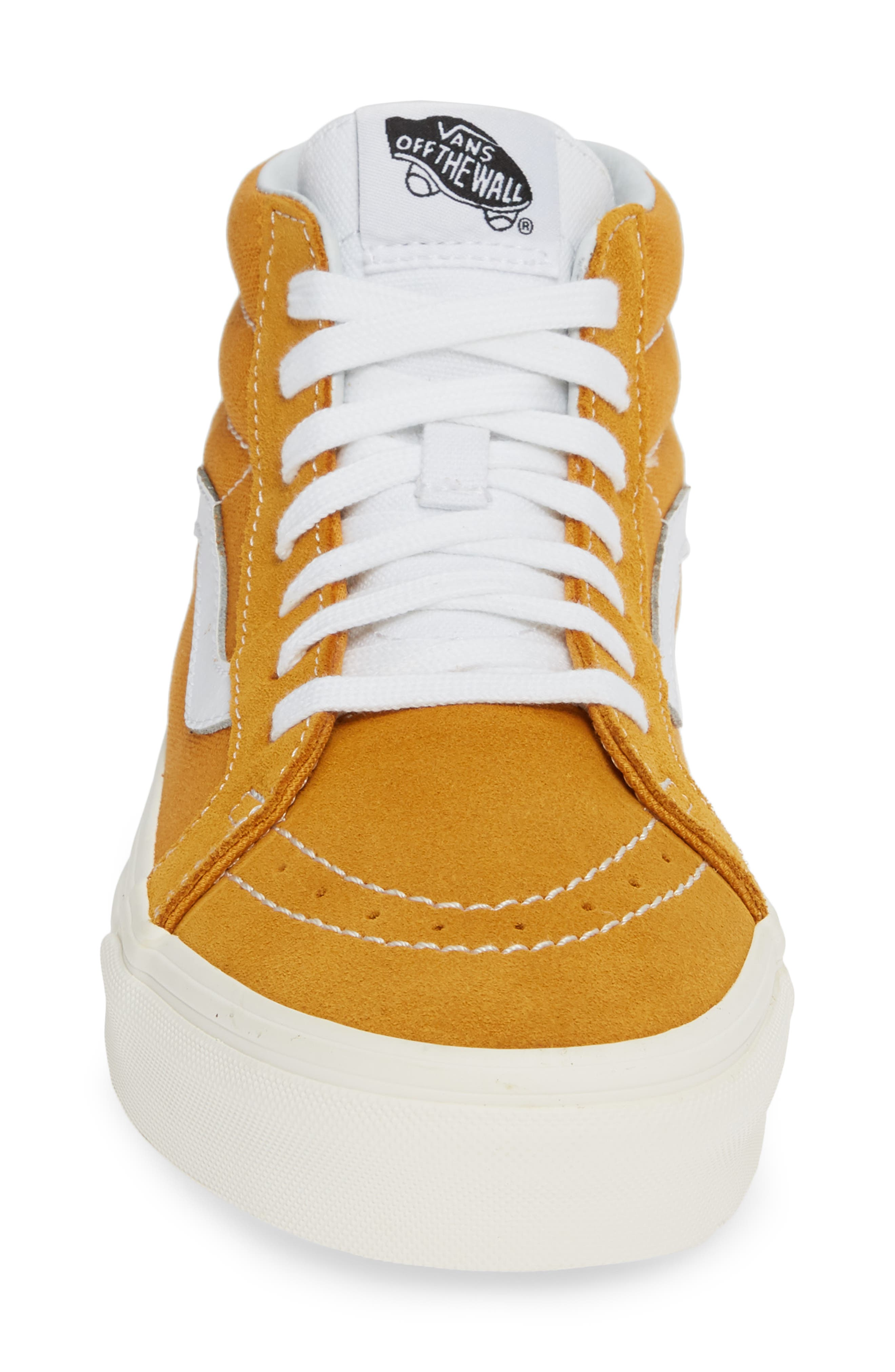 Sk8-Mid Reissue Sneaker,                             Alternate thumbnail 4, color,                             SUNFLOWER CANVAS/SUEDE