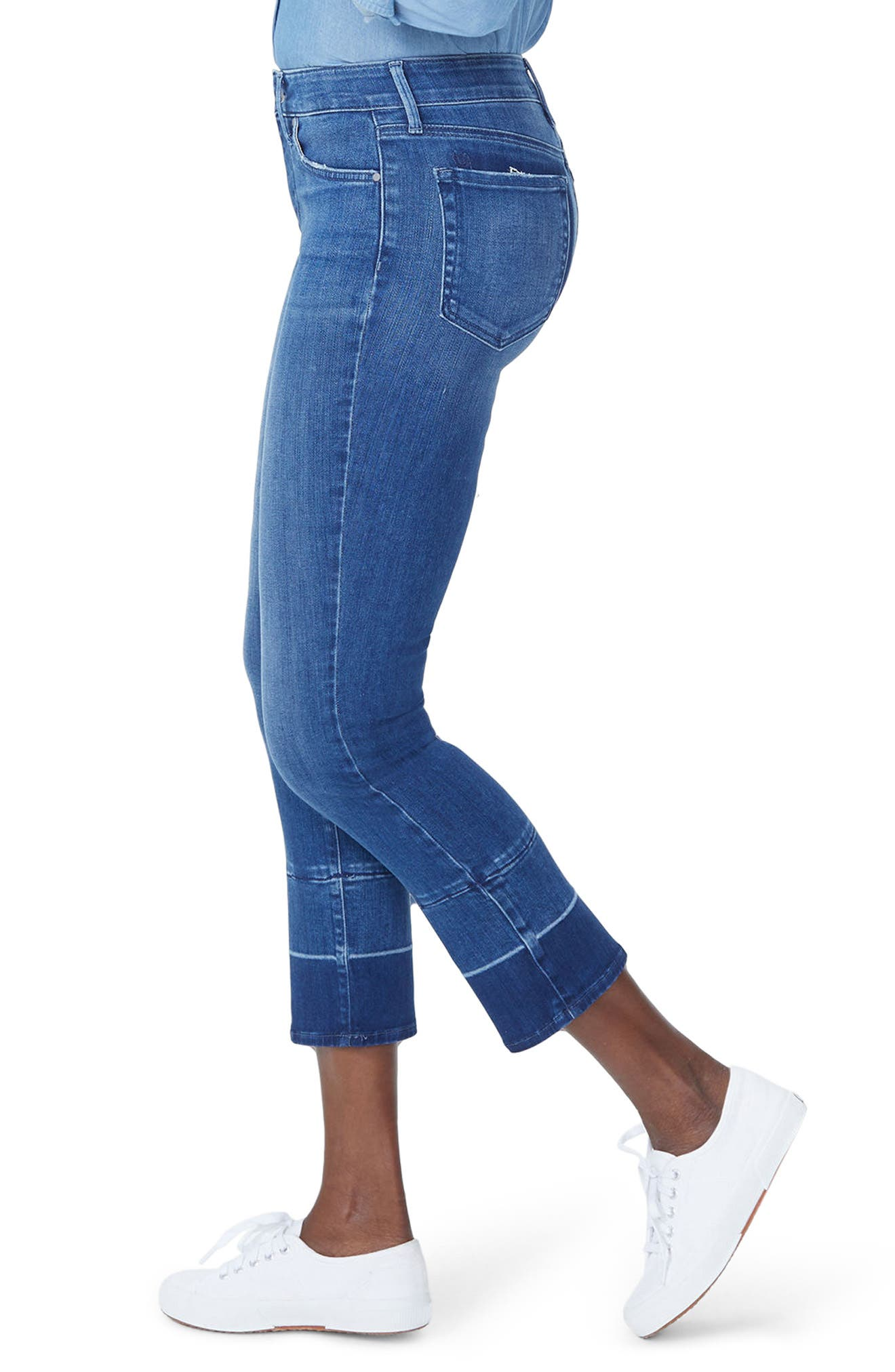 Sheri Wide Release Hem Ankle Jeans,                             Alternate thumbnail 3, color,                             406