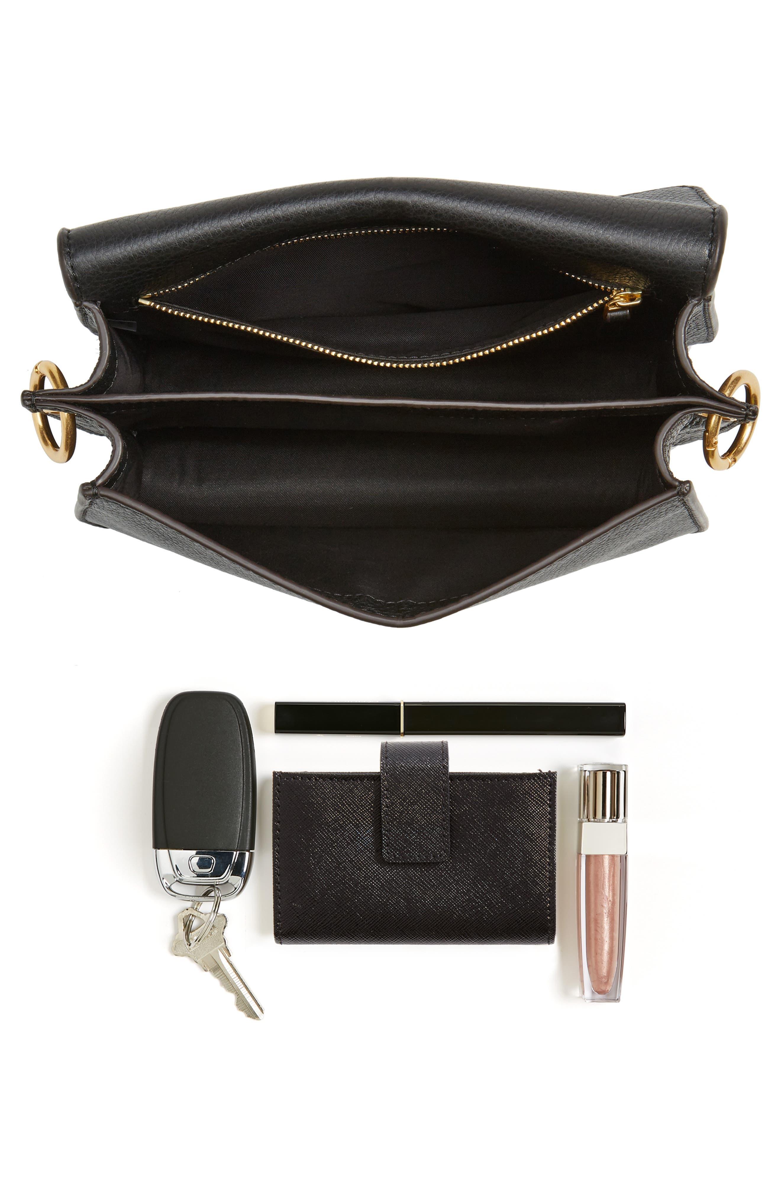 McGraw Leather Shoulder Bag,                             Alternate thumbnail 7, color,                             001