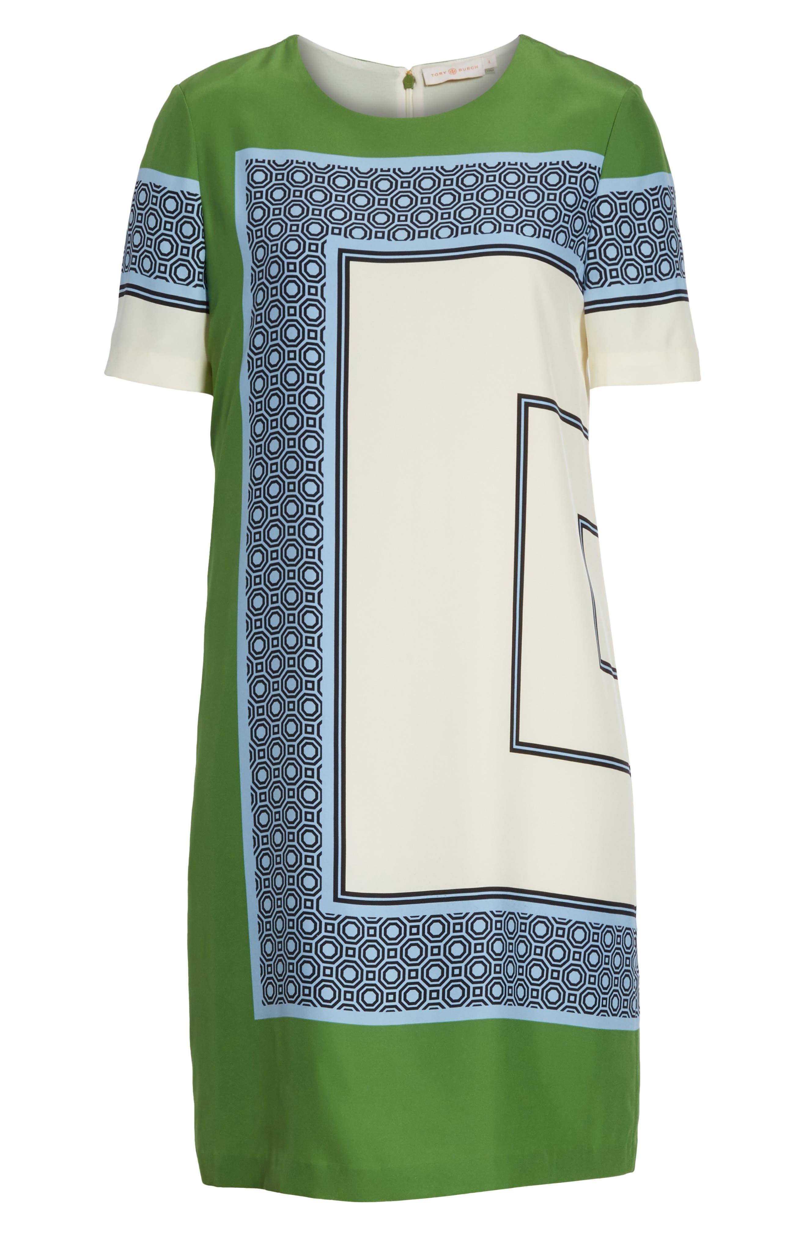 Mallory Silk Dress,                             Alternate thumbnail 7, color,                             410