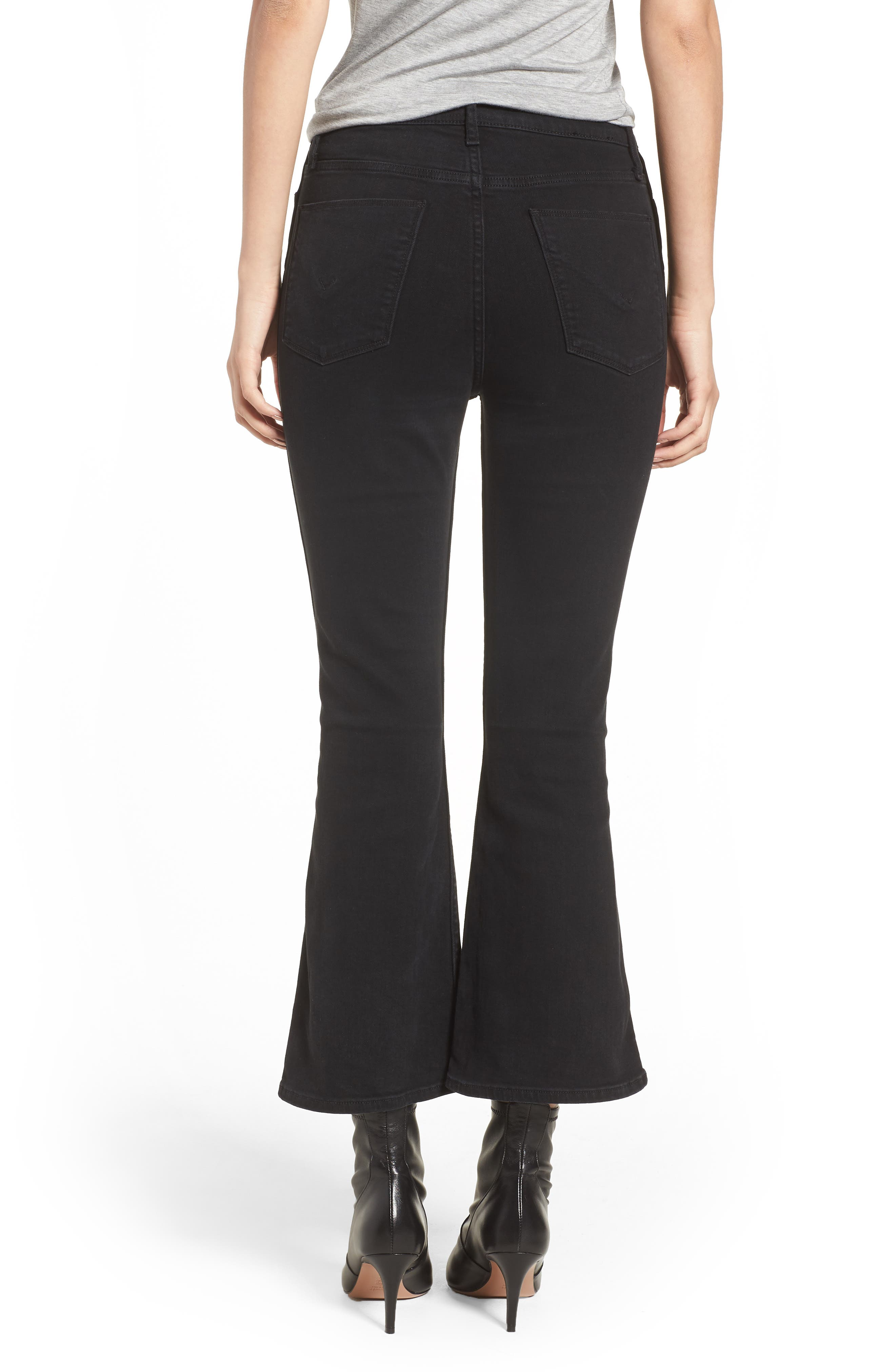 Holly High Waist Crop Flare Jeans,                             Alternate thumbnail 2, color,                             001
