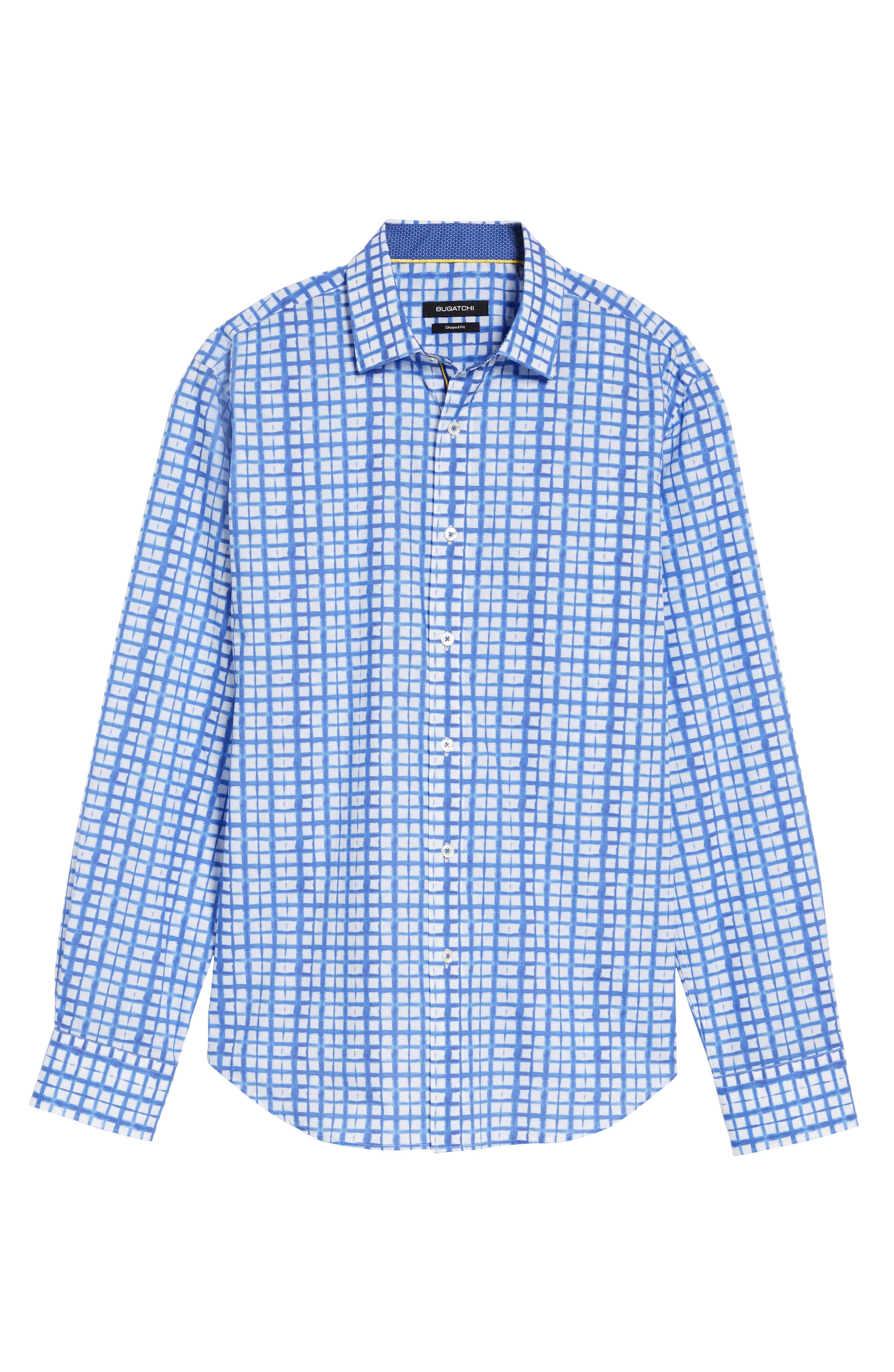 Shaped Fit Check Sport Shirt,                             Alternate thumbnail 6, color,                             422