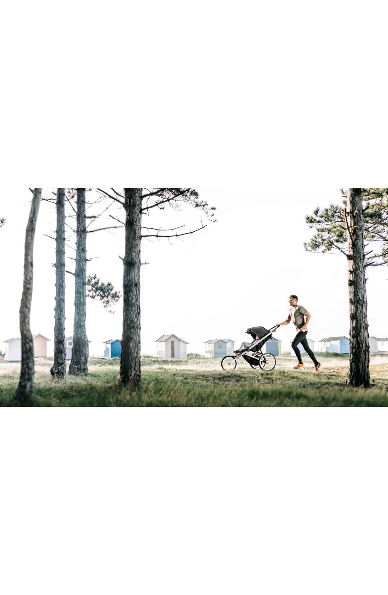 2018 Glide 2 Jogging Stroller,                             Alternate thumbnail 4, color,                             BLACK/ SILVER FRAME