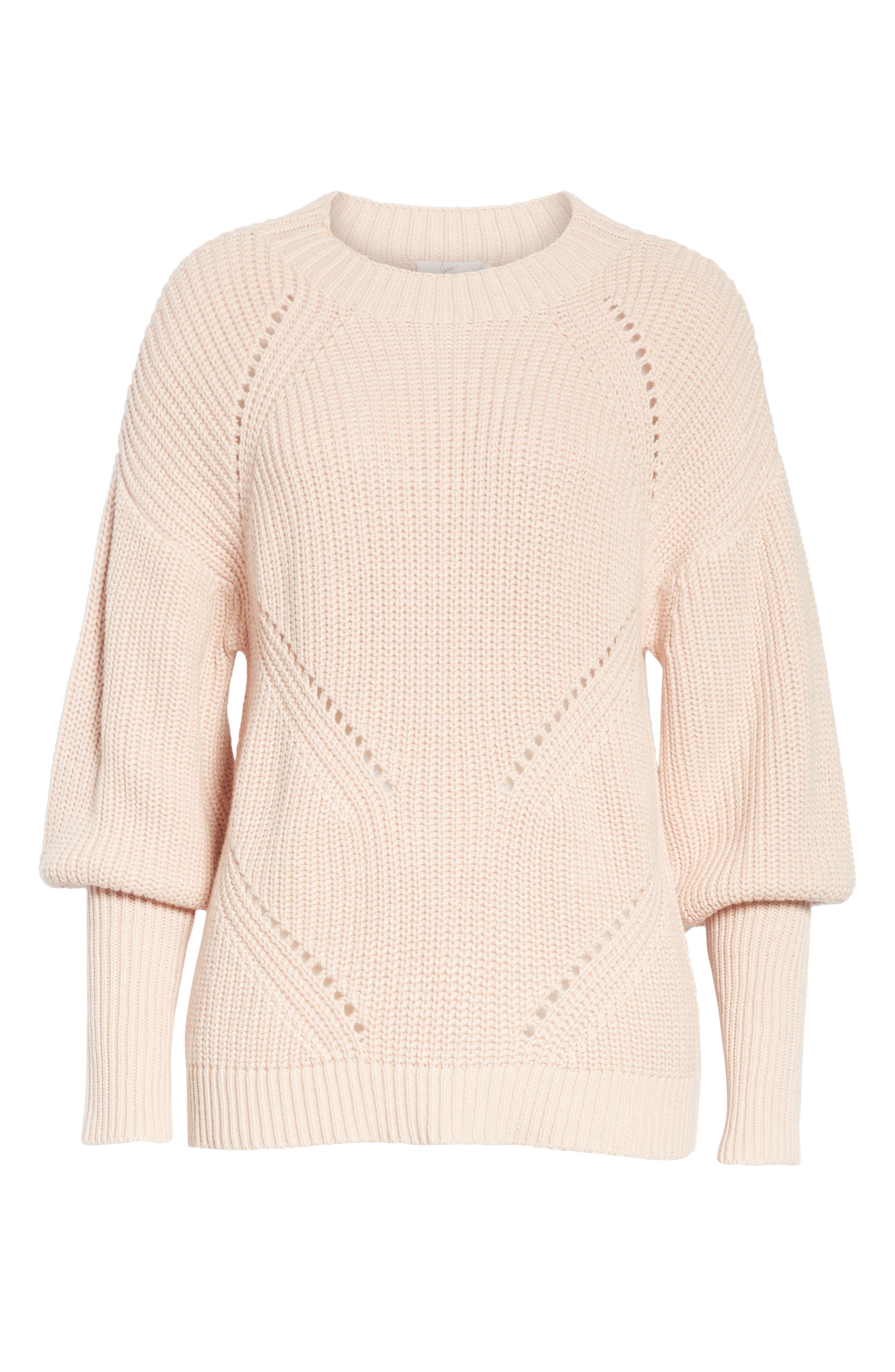 Landyn Blouson Sleeve Sweater,                             Alternate thumbnail 6, color,                             PINK SKY