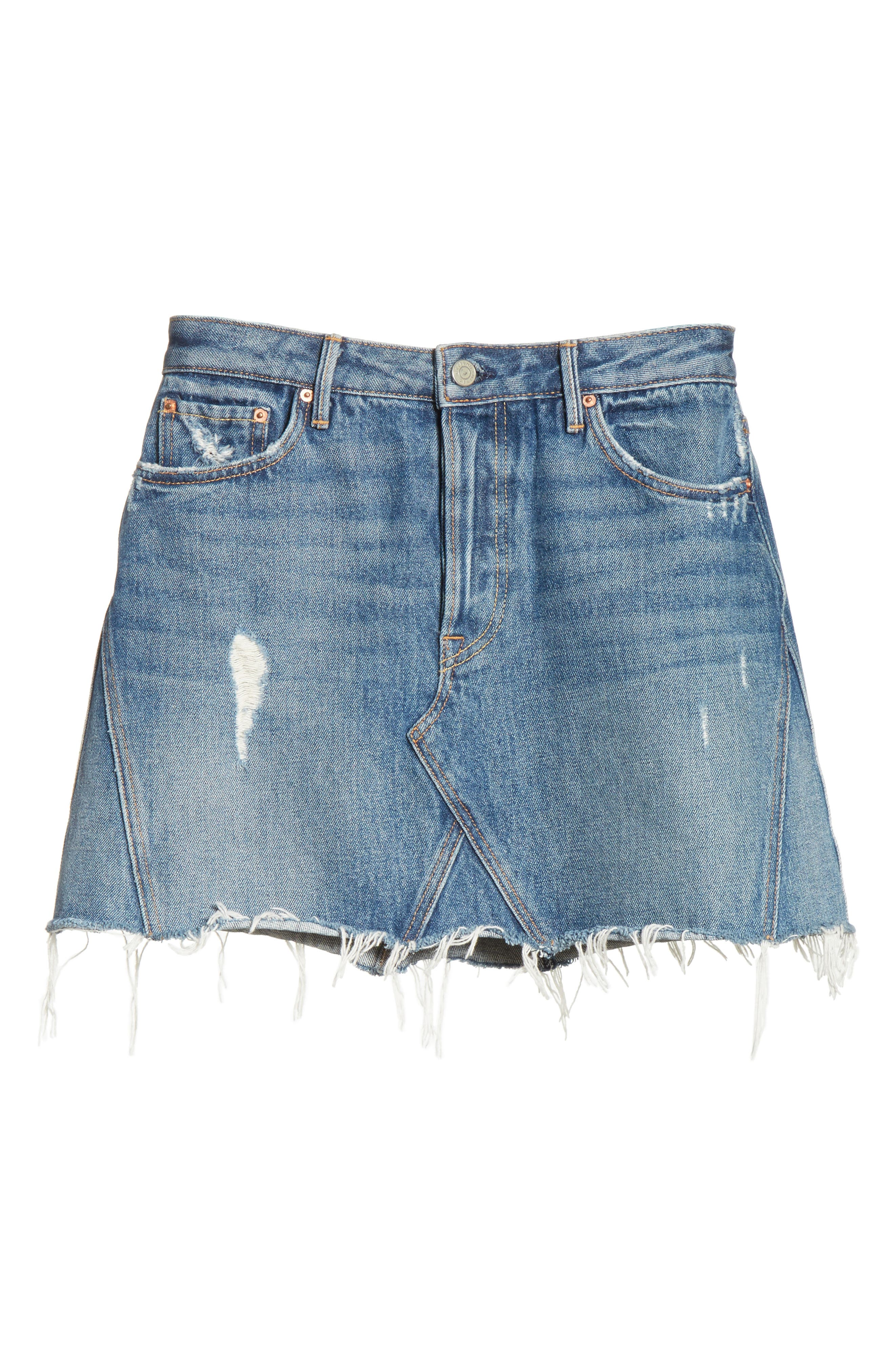 Eva Denim A-Frame Gusset Skirt,                             Alternate thumbnail 7, color,                             WALK THIS WAY