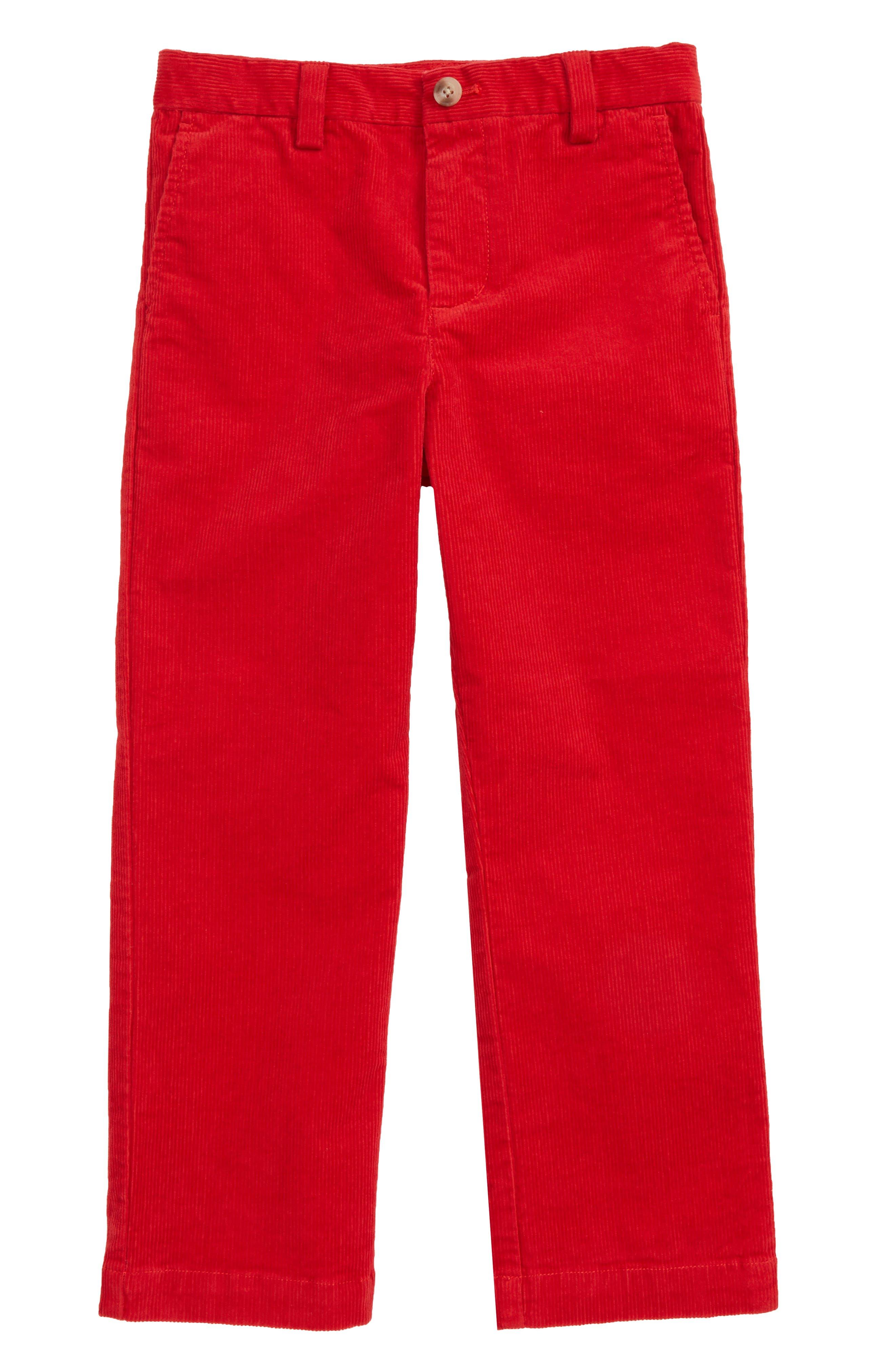 Toddler Boys Vineyard Vines Corduroy Breaker Pants Size 3T  Red