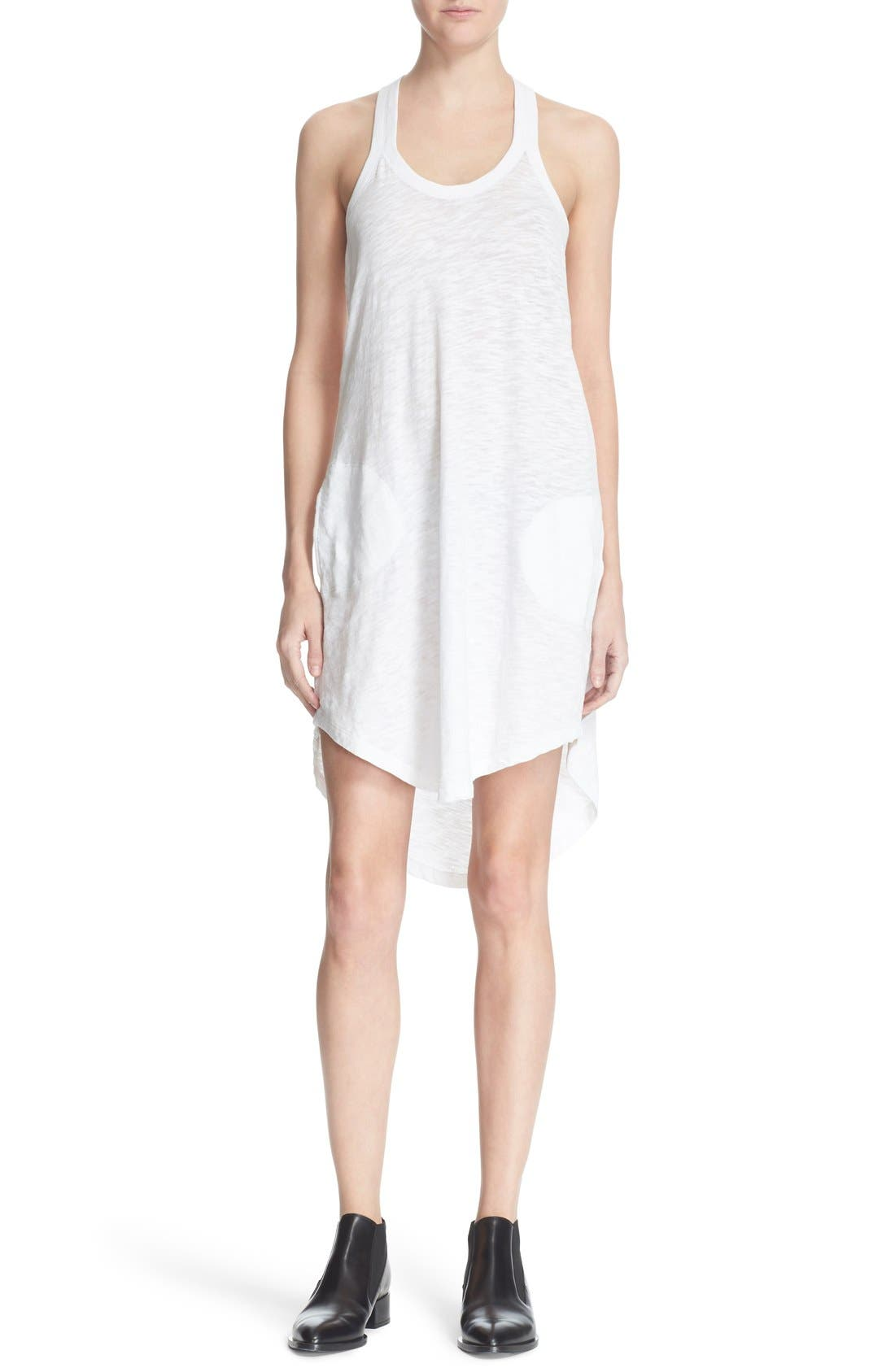 Cotton Trapeze Tank Dress,                             Main thumbnail 3, color,