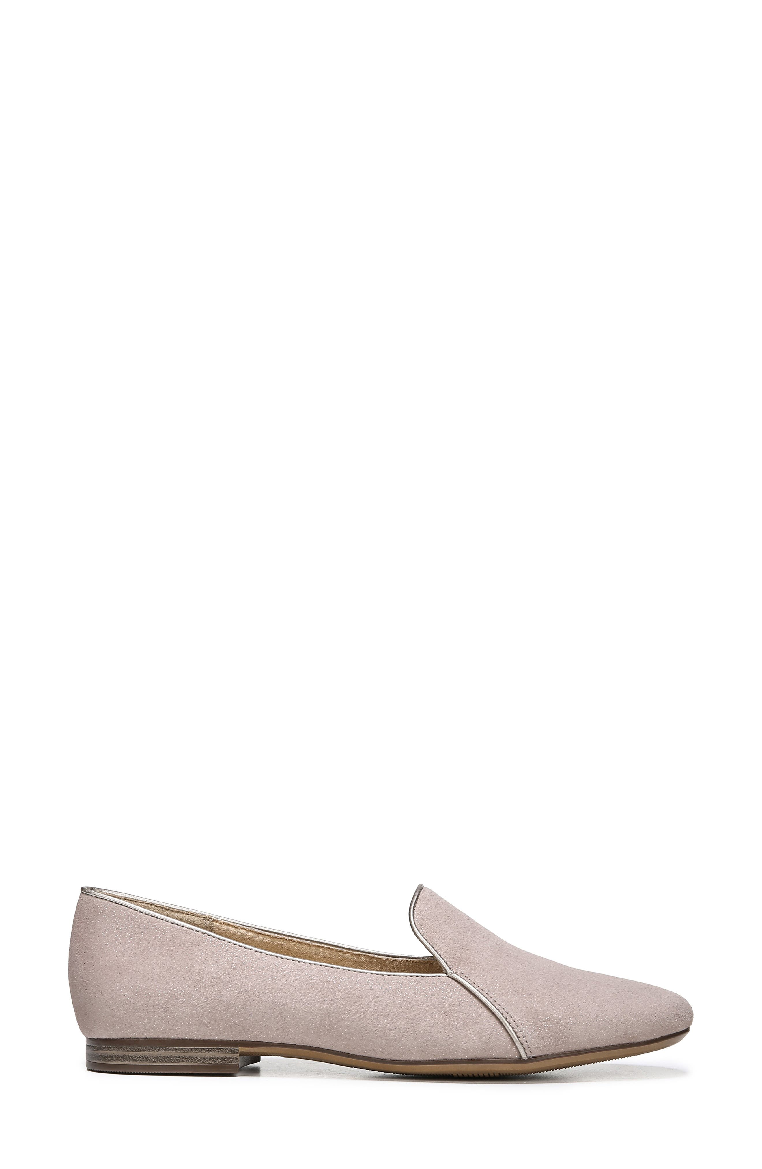 Emiline 2 Loafer,                             Alternate thumbnail 3, color,                             TAUPE GLITTER DUST SUEDE