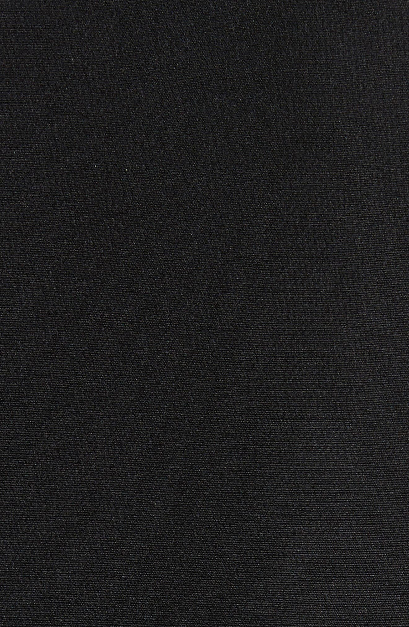 Mandy Ruffle Cuff Shift Dress,                             Alternate thumbnail 6, color,                             001