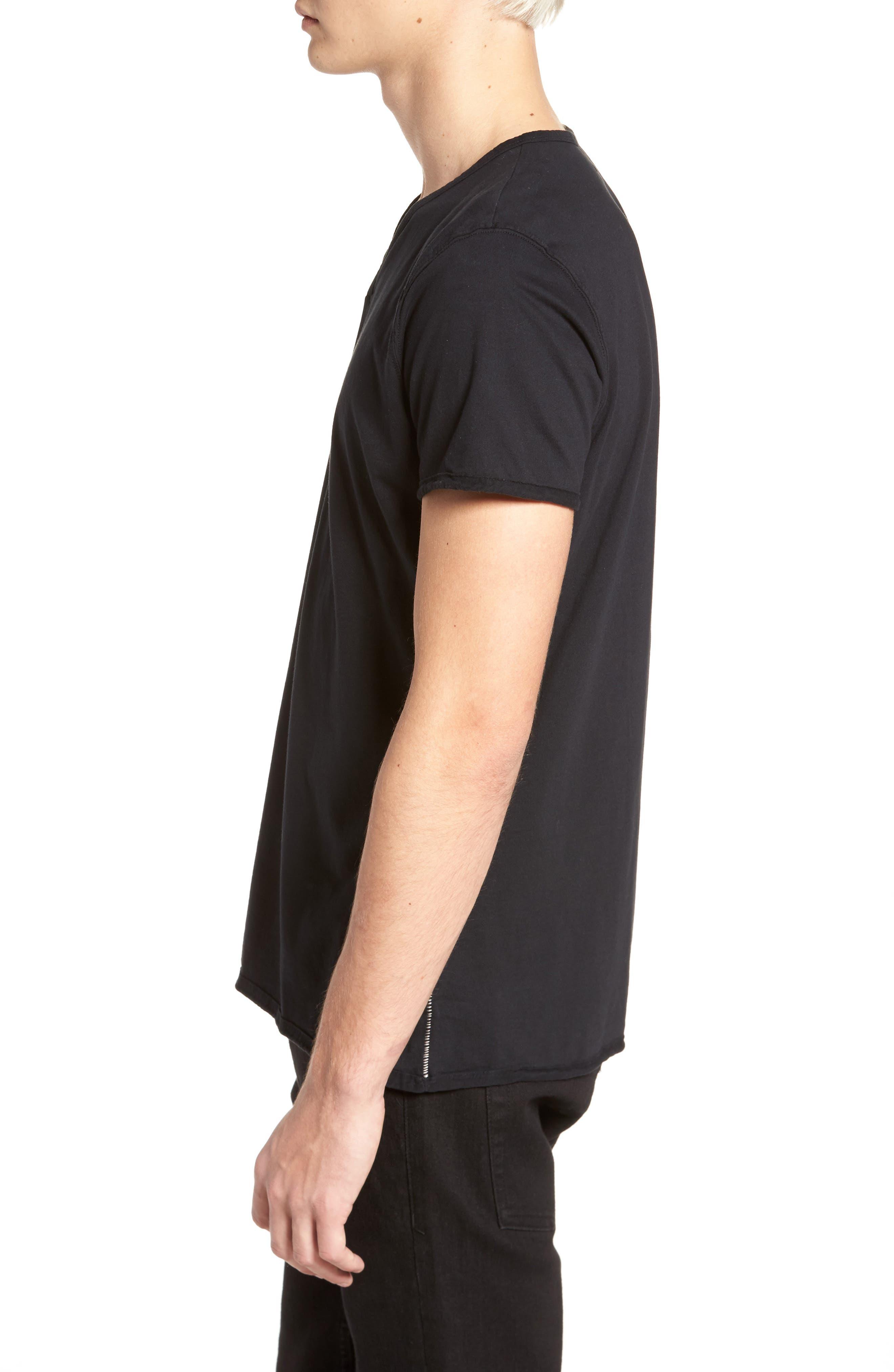 Notch Henley T-Shirt,                             Alternate thumbnail 3, color,                             001