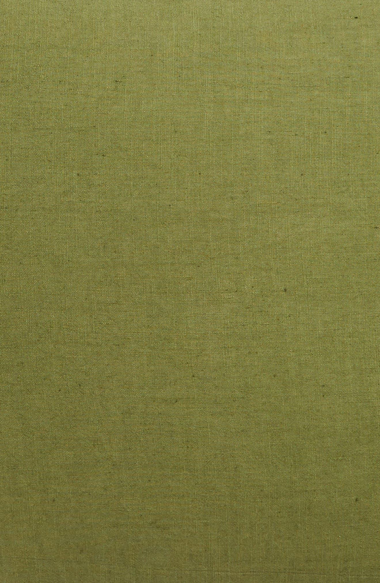 TREASURE & BOND,                             Relaxed Cotton & Linen Euro Sham,                             Alternate thumbnail 3, color,                             OLIVE SPICE