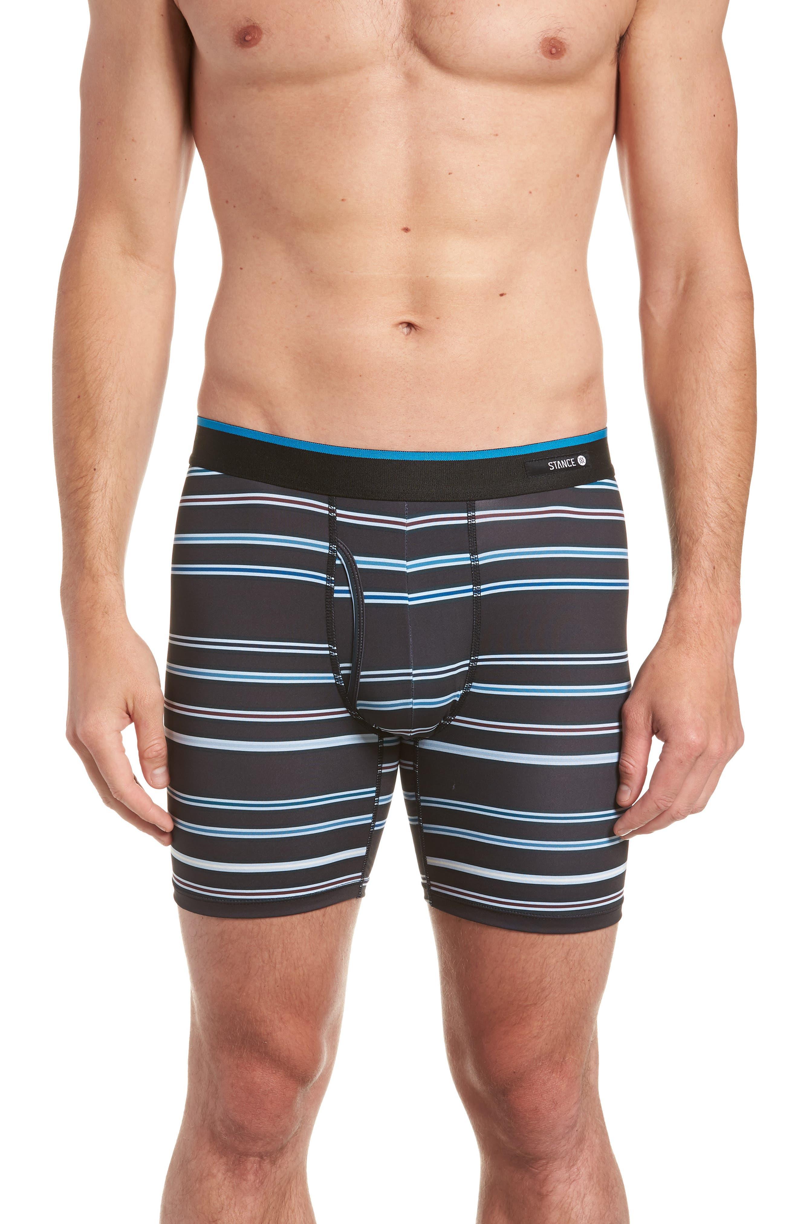 Beyond Striped Boxer Briefs,                         Main,                         color, BLACK