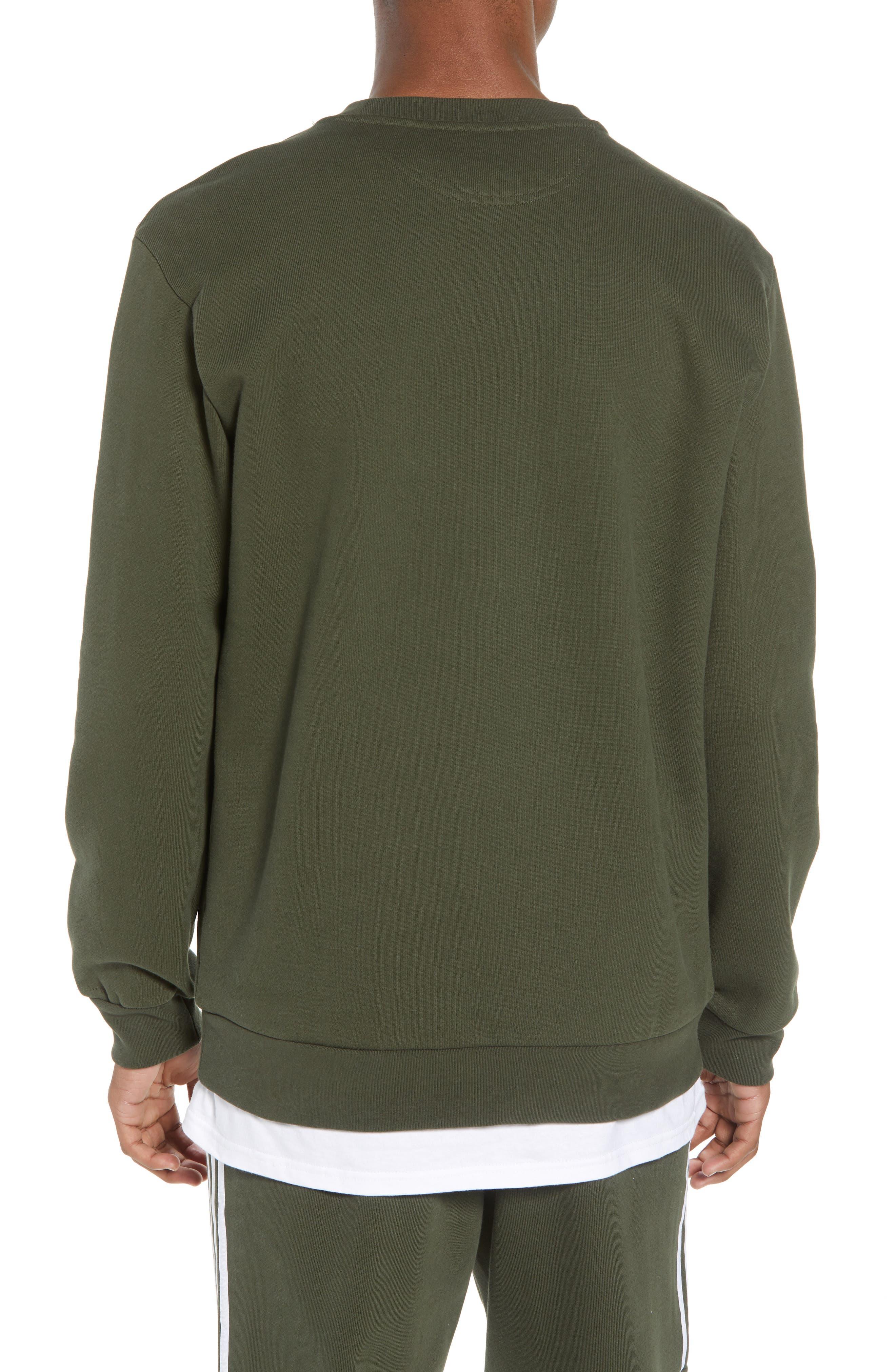 adidas Outline Trefoil Crewneck Sweatshirt,                             Alternate thumbnail 2, color,                             307
