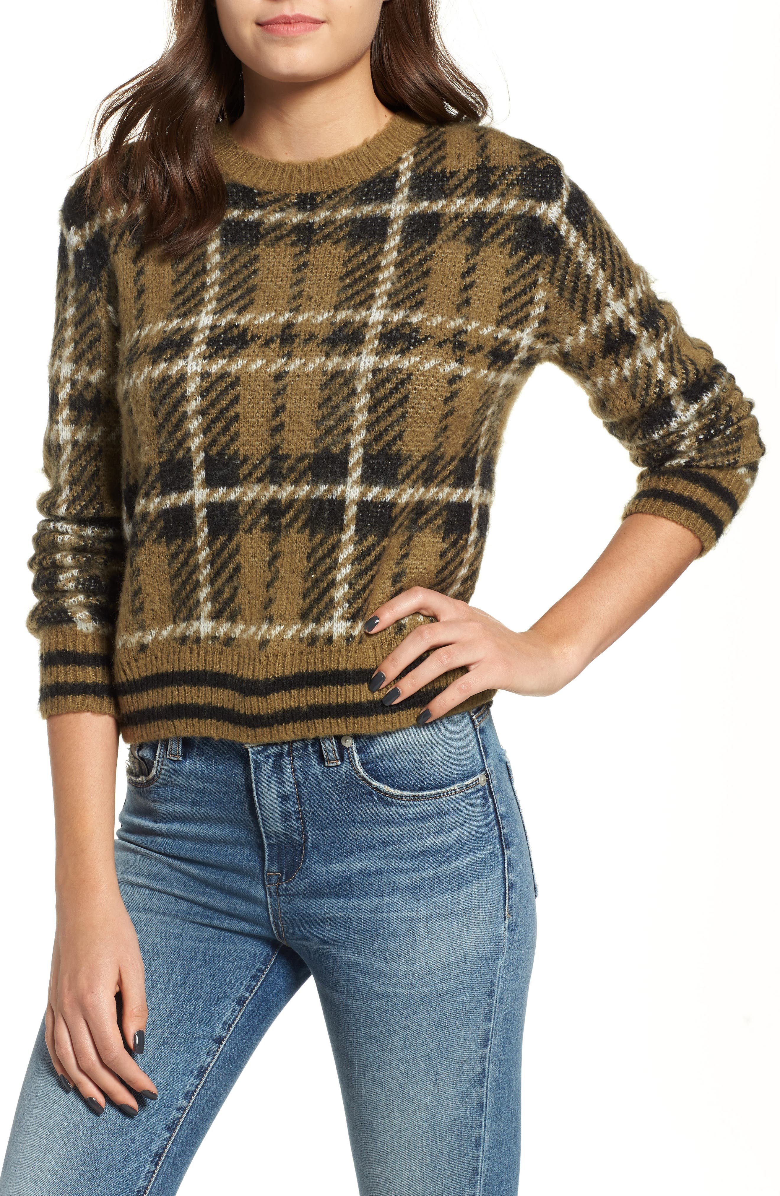 Plaid Sweater,                             Main thumbnail 1, color,                             315