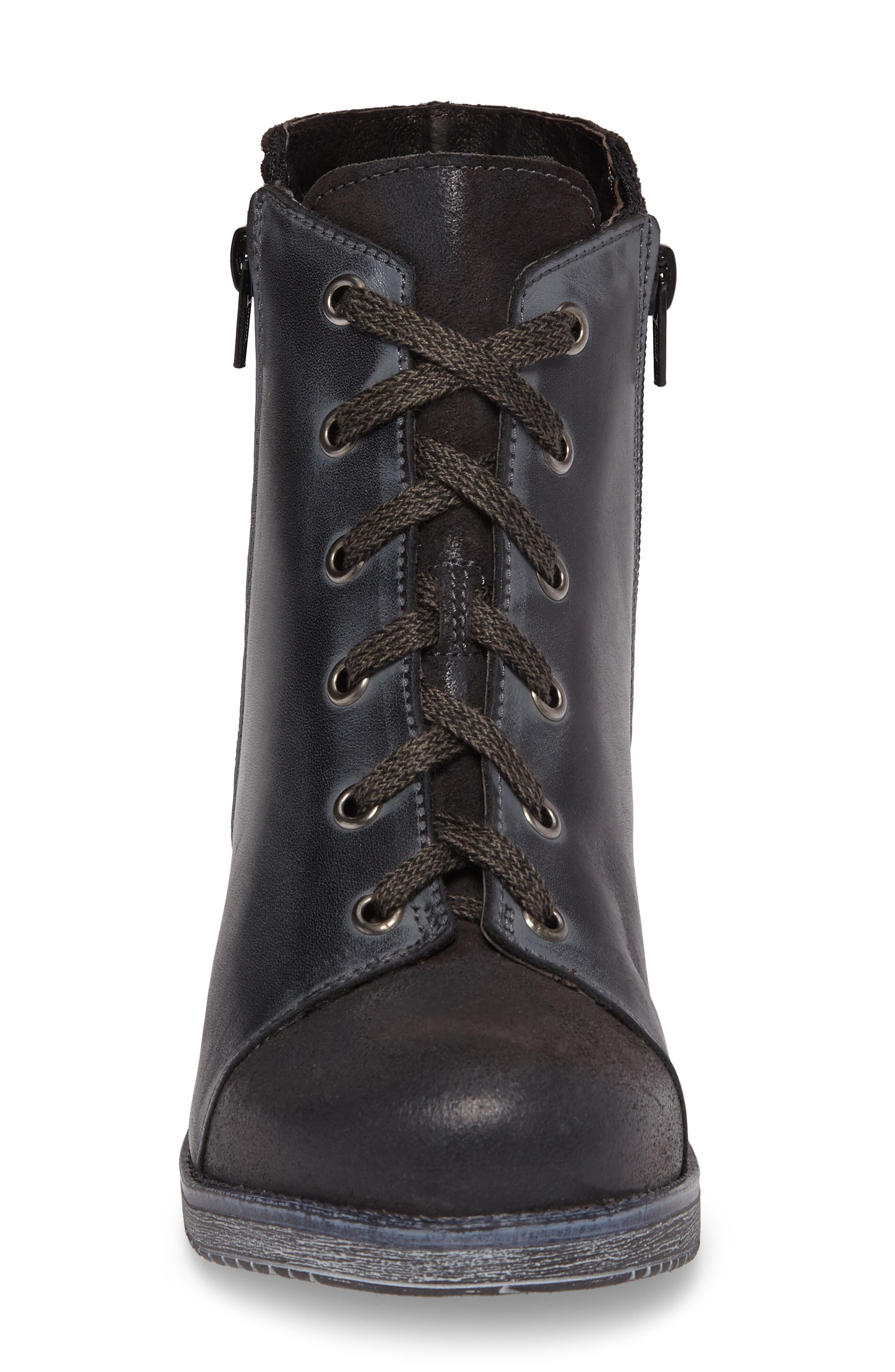 Groovy Lace Up Bootie,                             Alternate thumbnail 4, color,                             020