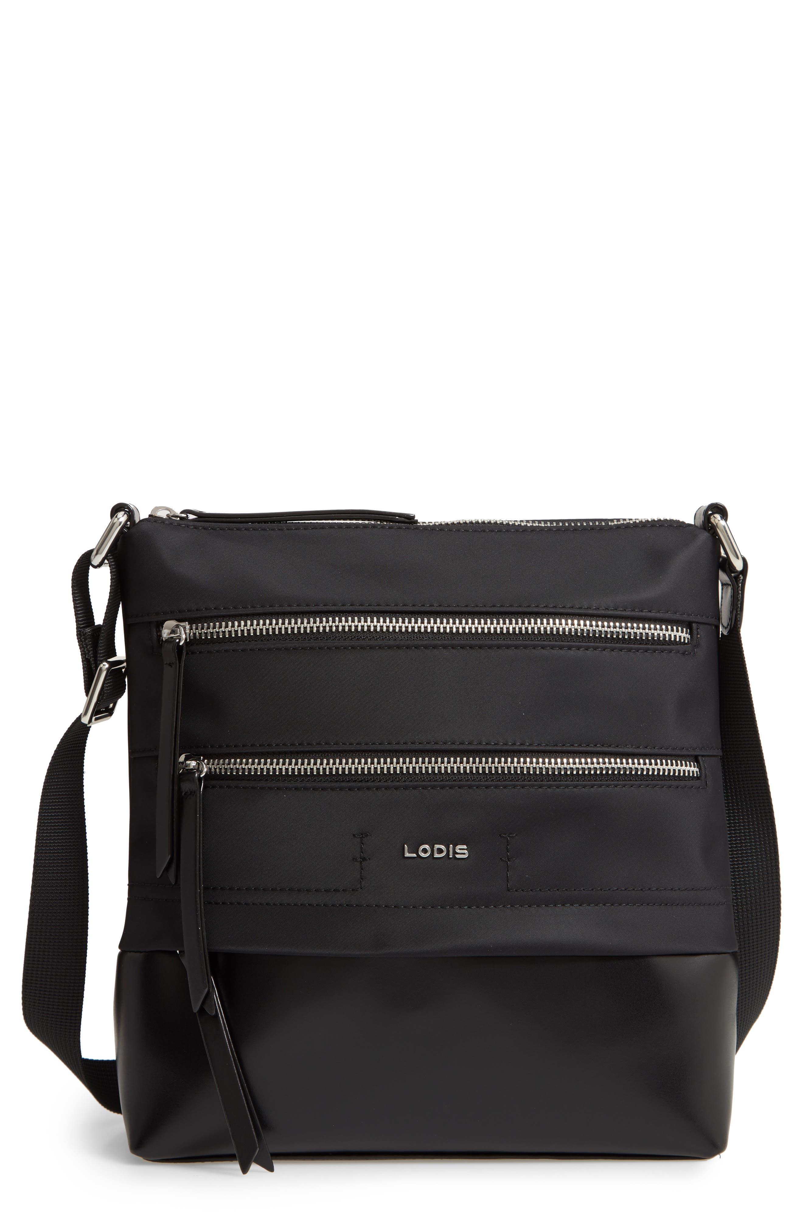 Wanda Nylon Sport RFID Travel Crossbody Bag,                         Main,                         color, BLACK