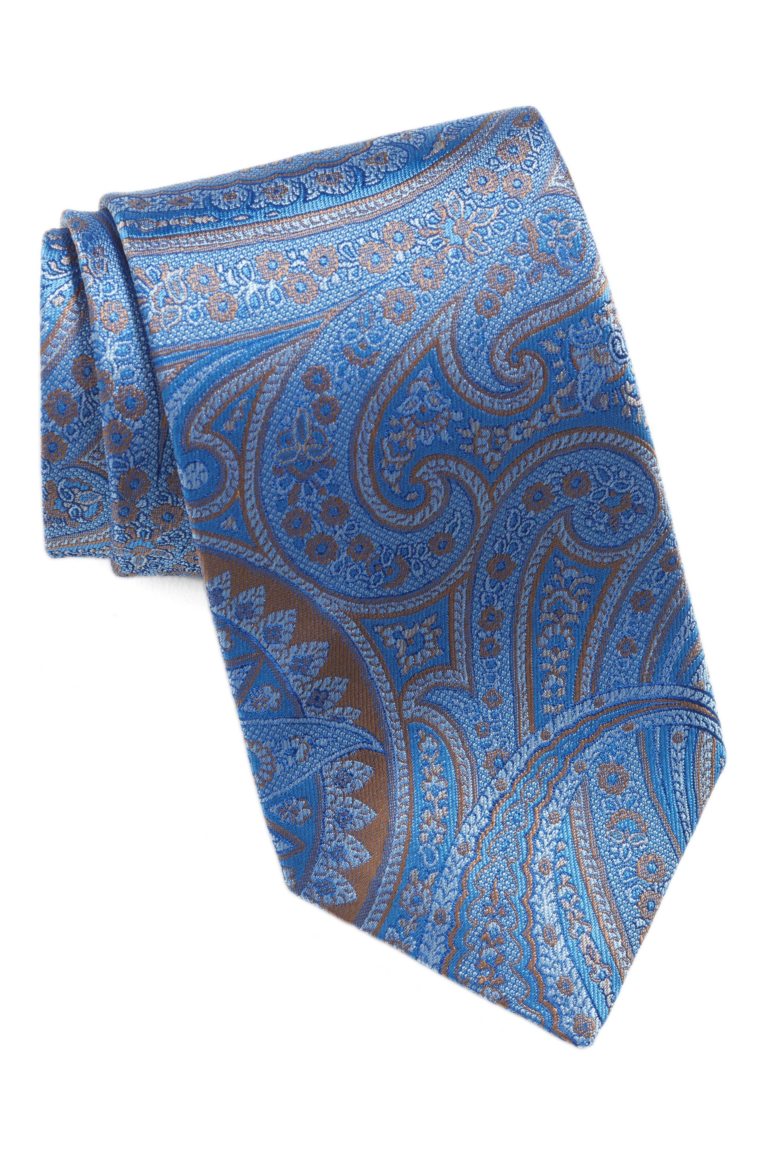 Paisley Silk Tie,                         Main,                         color, 430