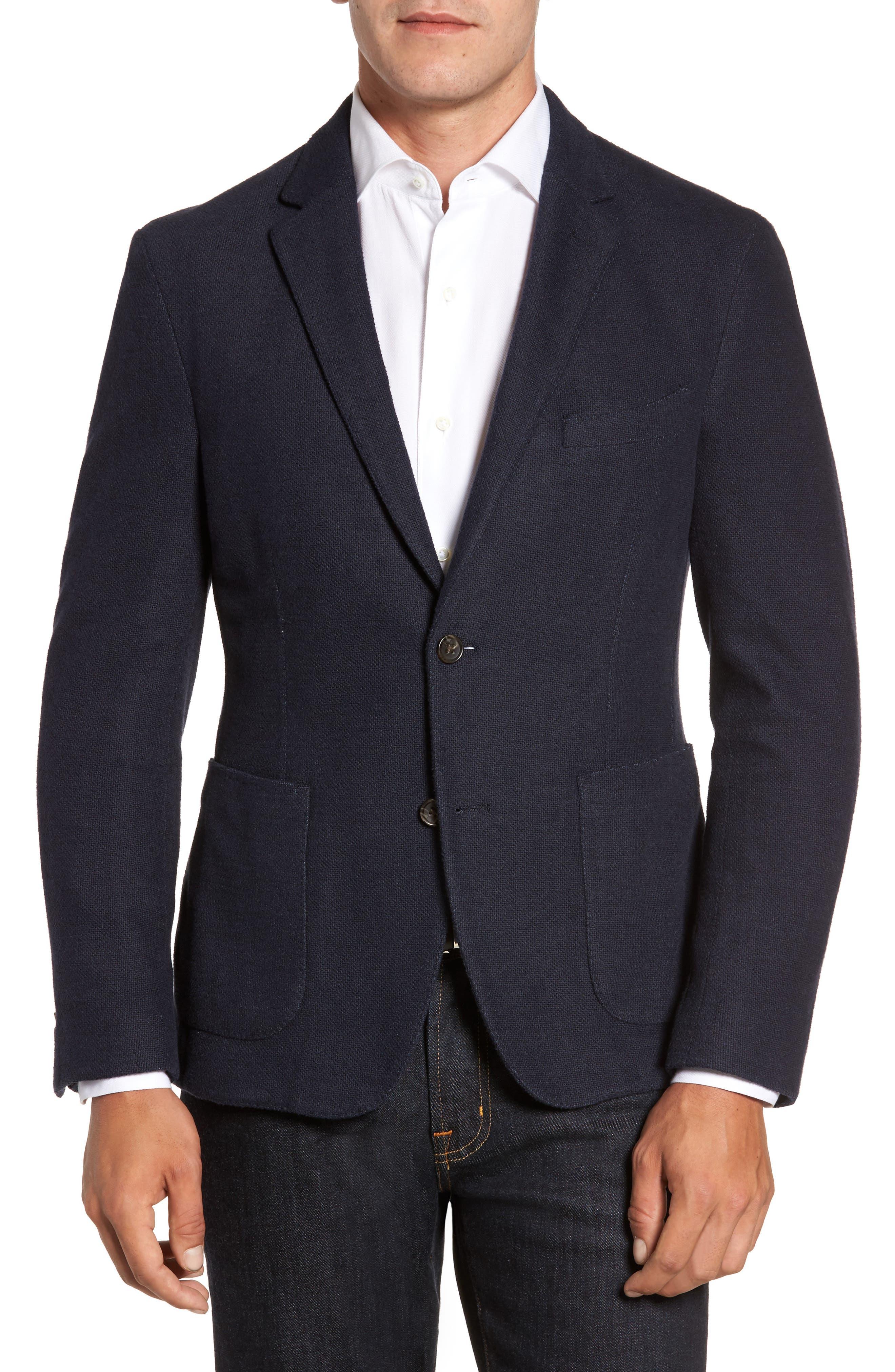 Classic Fit Cotton Blend Jersey Sport Coat,                         Main,                         color, 410