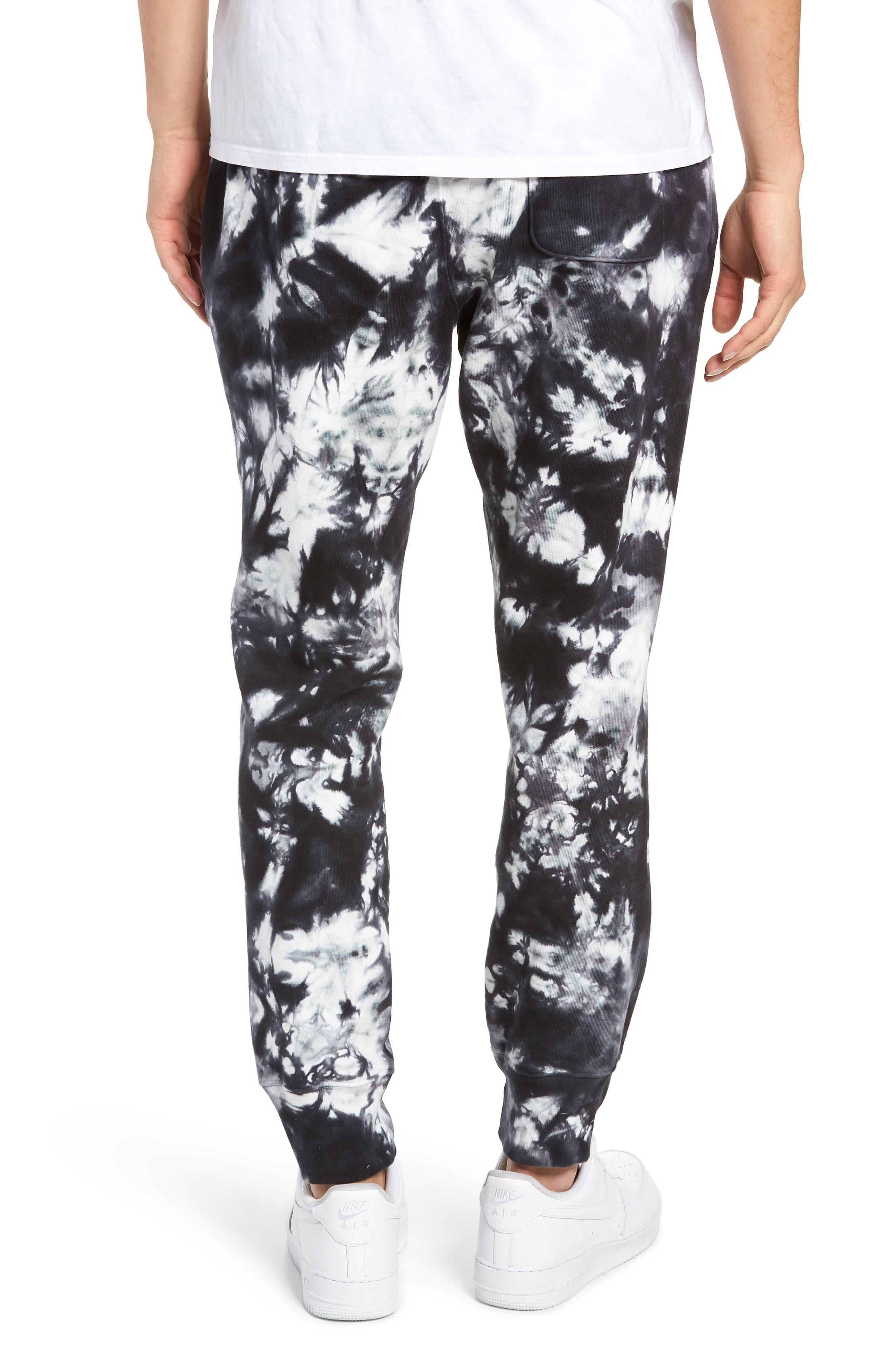 Scrunch Dye Reverse Sweatpants,                             Alternate thumbnail 2, color,                             BLACK