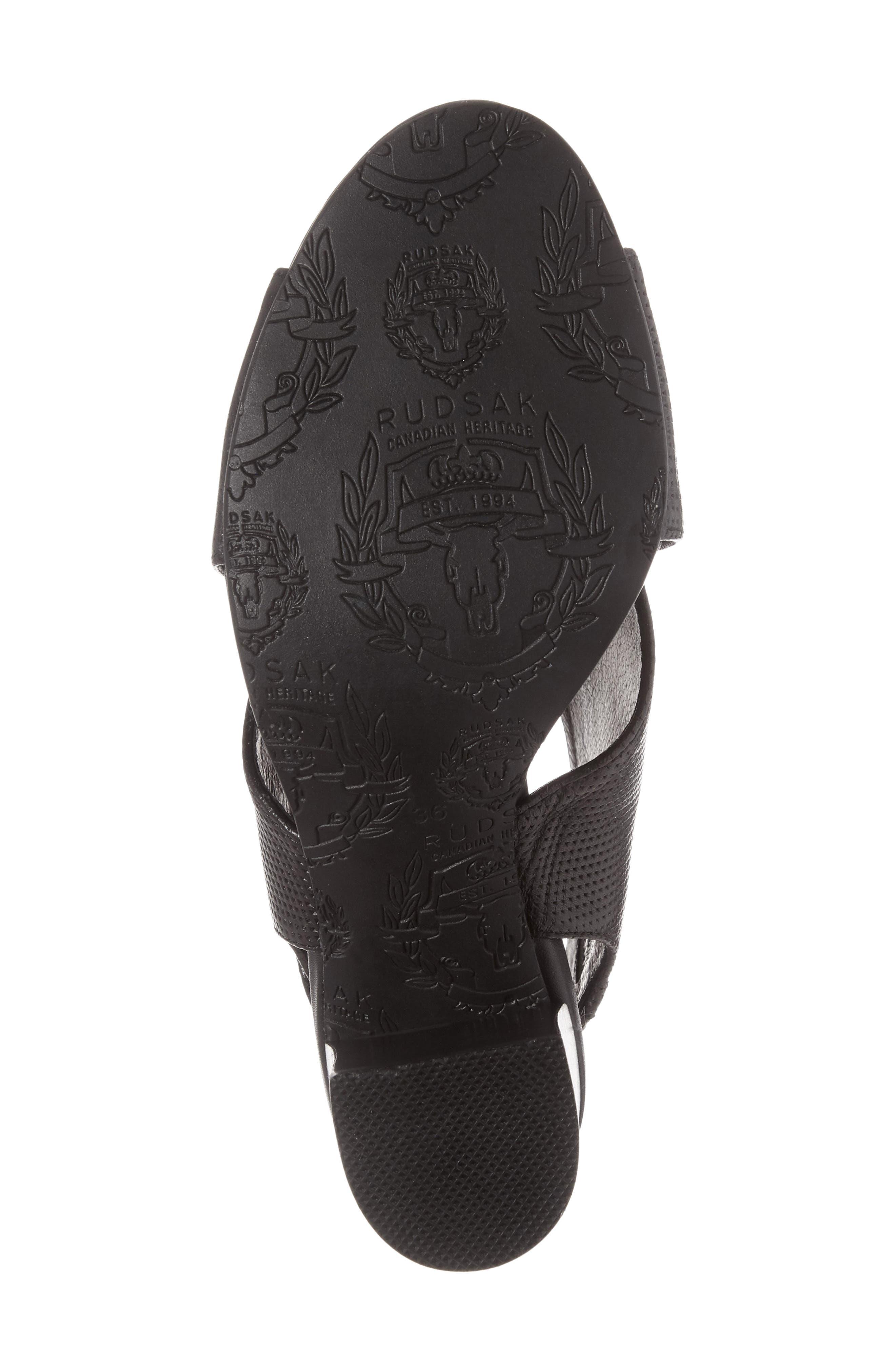 Benedetta Block Heel Sandal,                             Alternate thumbnail 6, color,                             001