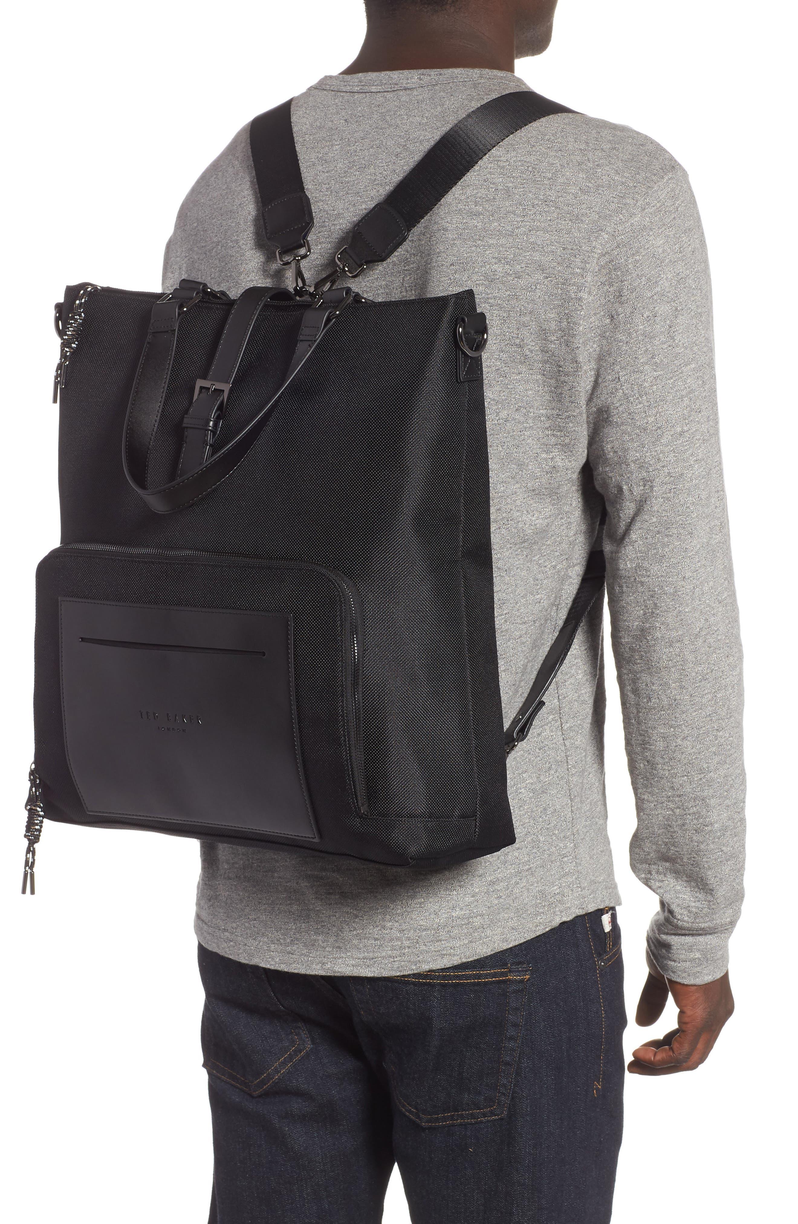 Tidee Convertible Backpack,                             Alternate thumbnail 2, color,                             BLACK