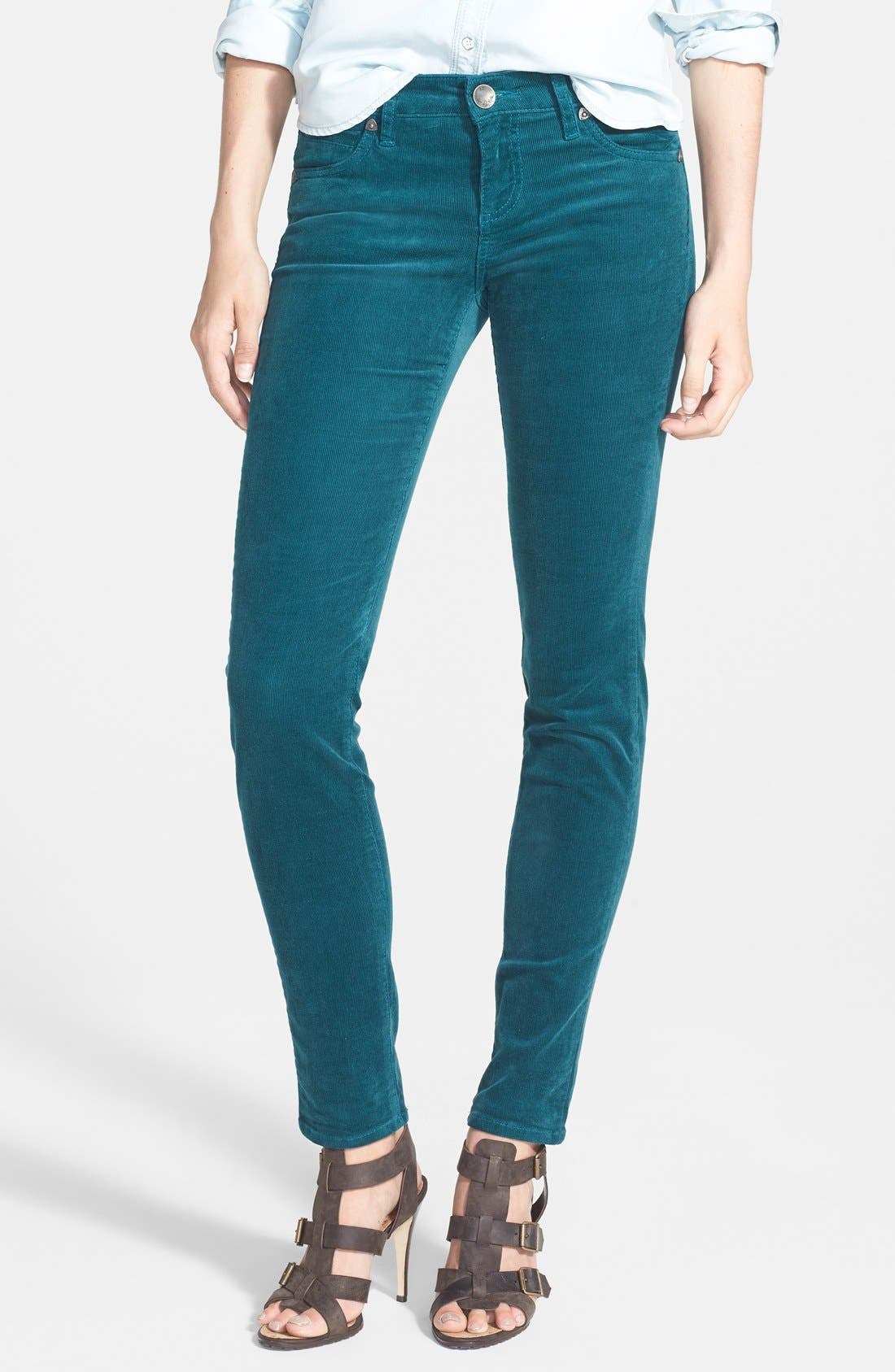 'Diana' Stretch Corduroy Skinny Pants,                             Main thumbnail 31, color,