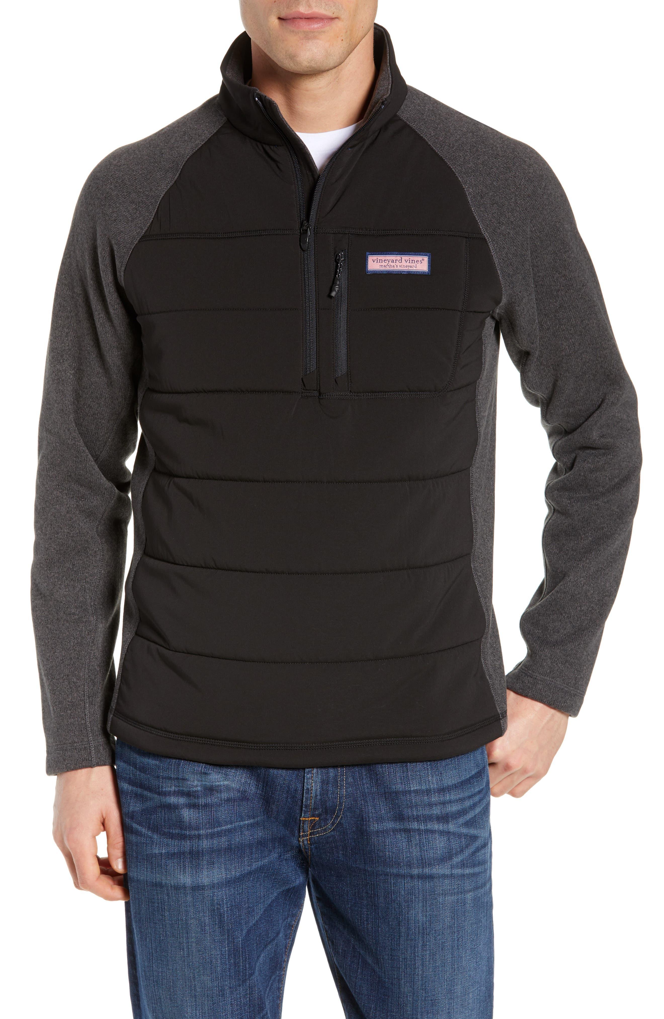 Seaward Fleece Half Zip Pullover, Main, color, NOCTURNE
