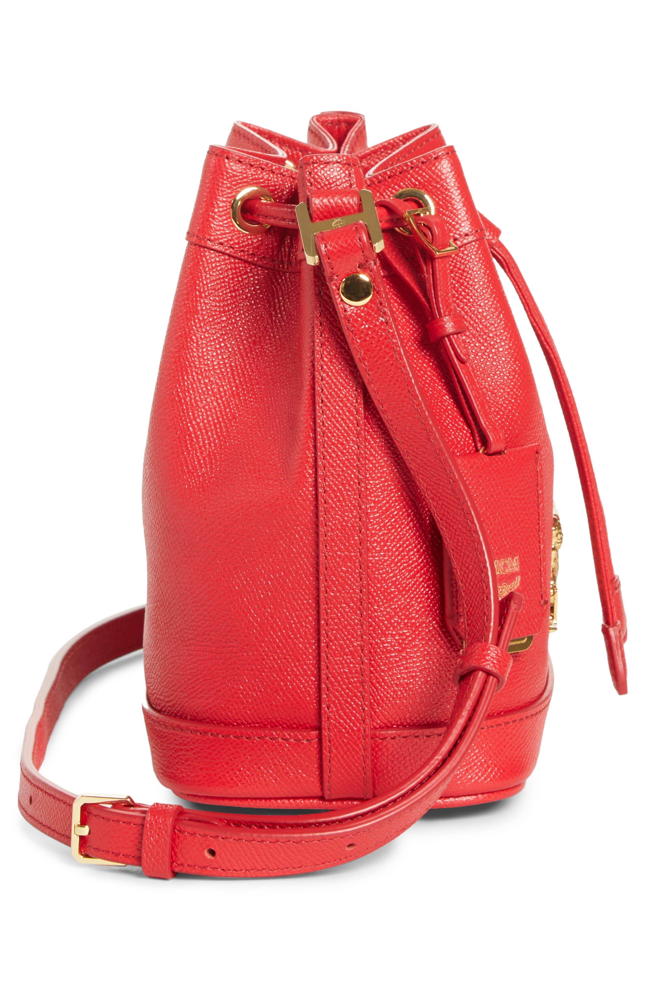 Mini RGB Drawstring Crossbody Bag,                             Alternate thumbnail 5, color,                             RED