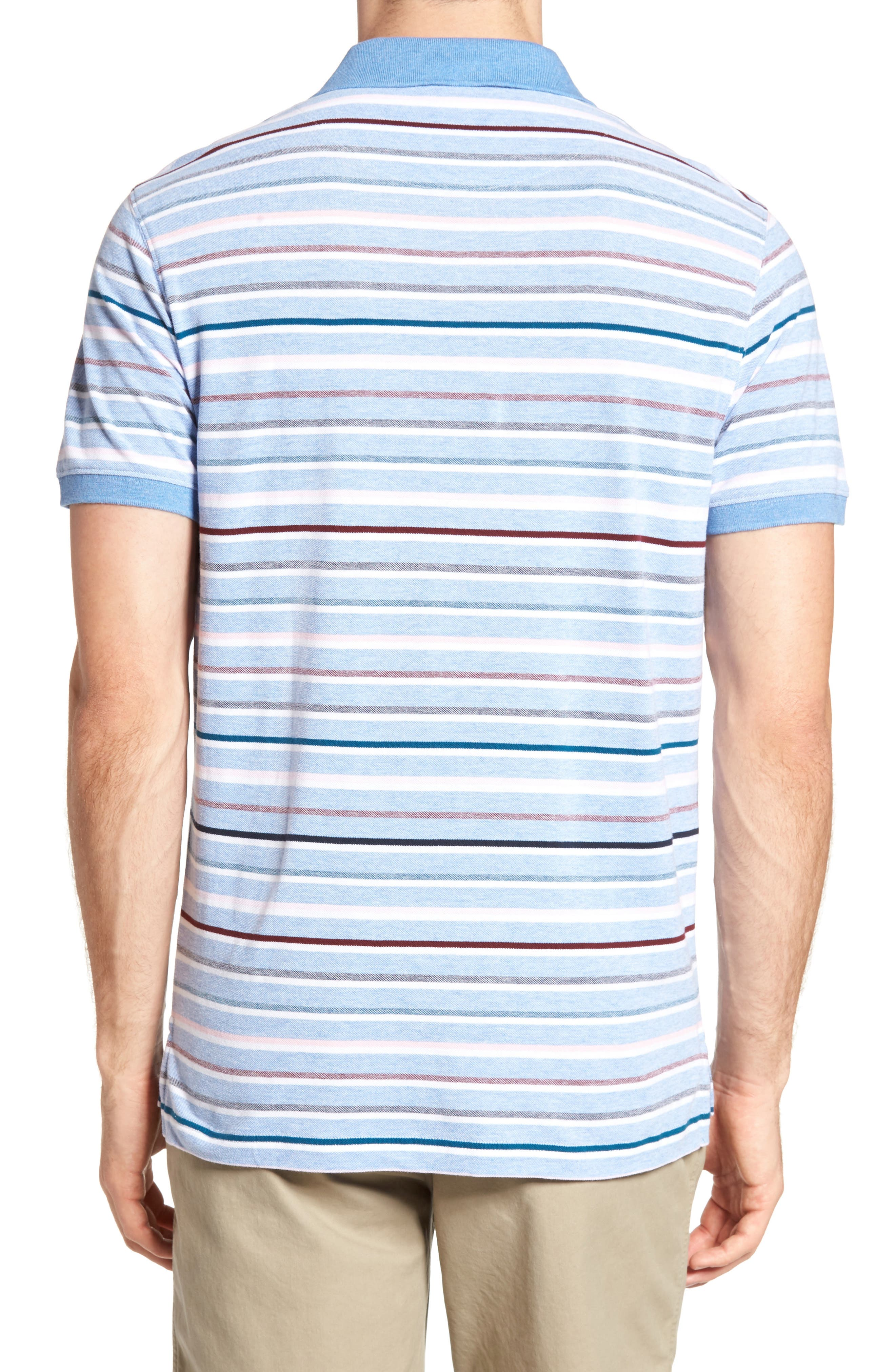 Gowan Hill Sports Fit Cotton Polo,                             Alternate thumbnail 2, color,                             457