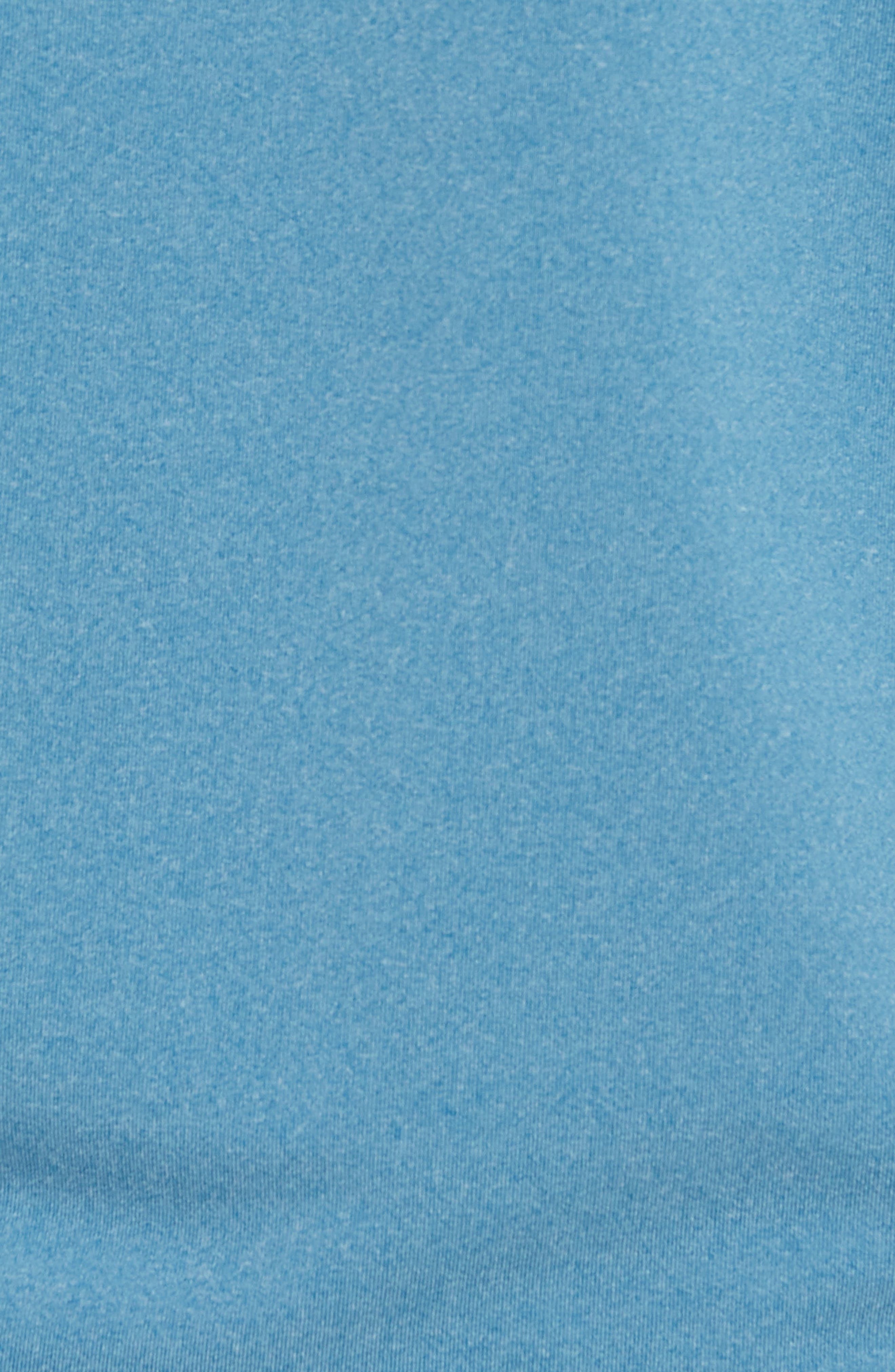M-Flex Flatiron Slim Fit Golf Polo,                             Alternate thumbnail 5, color,                             HEATHERED BLUE