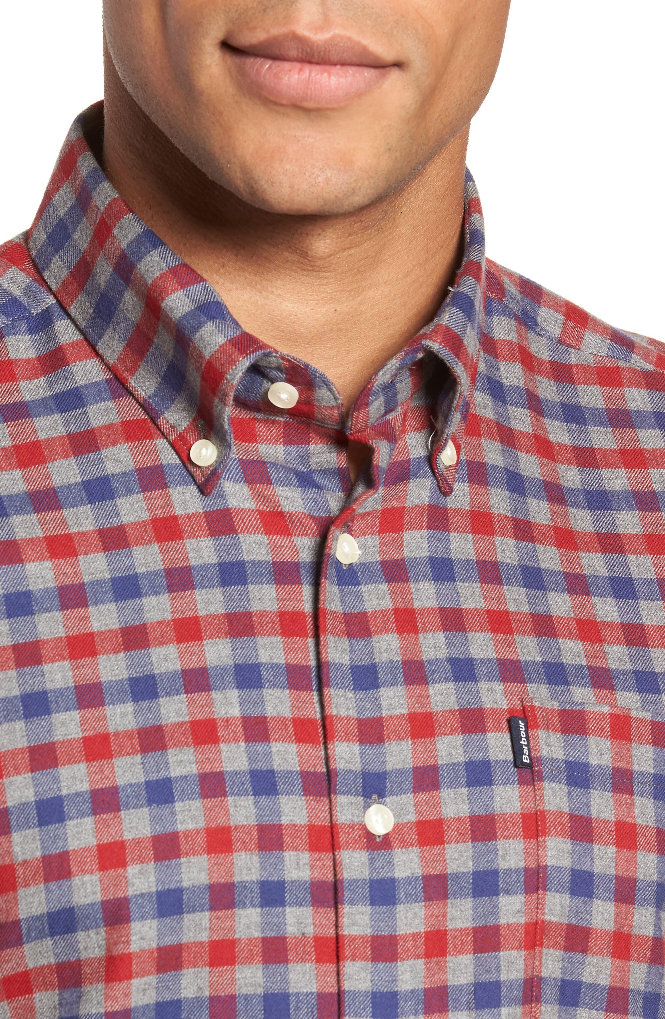Moss Check Flannel Sport Shirt,                             Alternate thumbnail 2, color,                             630
