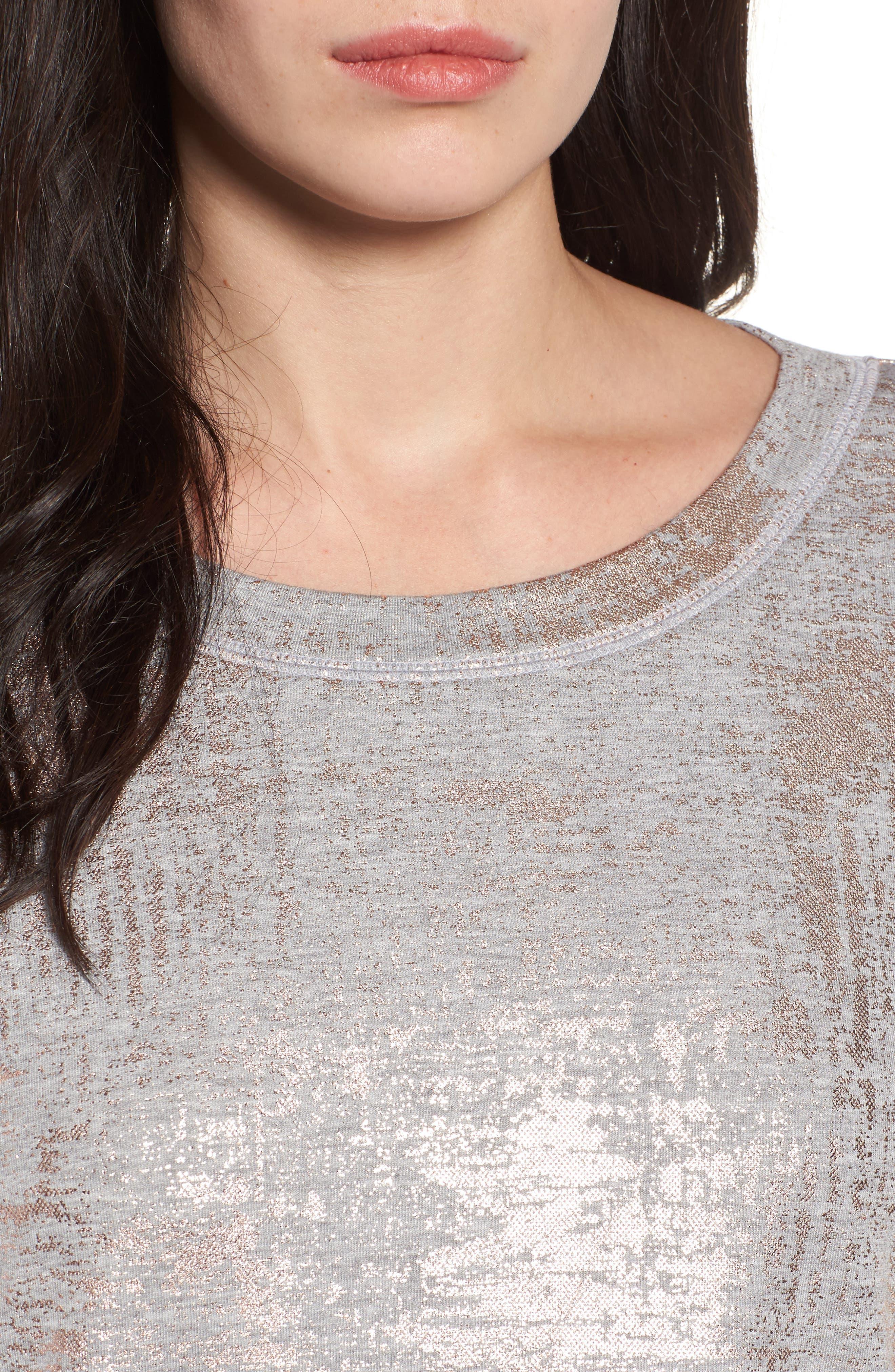 Foiled Sweatshirt,                             Alternate thumbnail 4, color,                             020