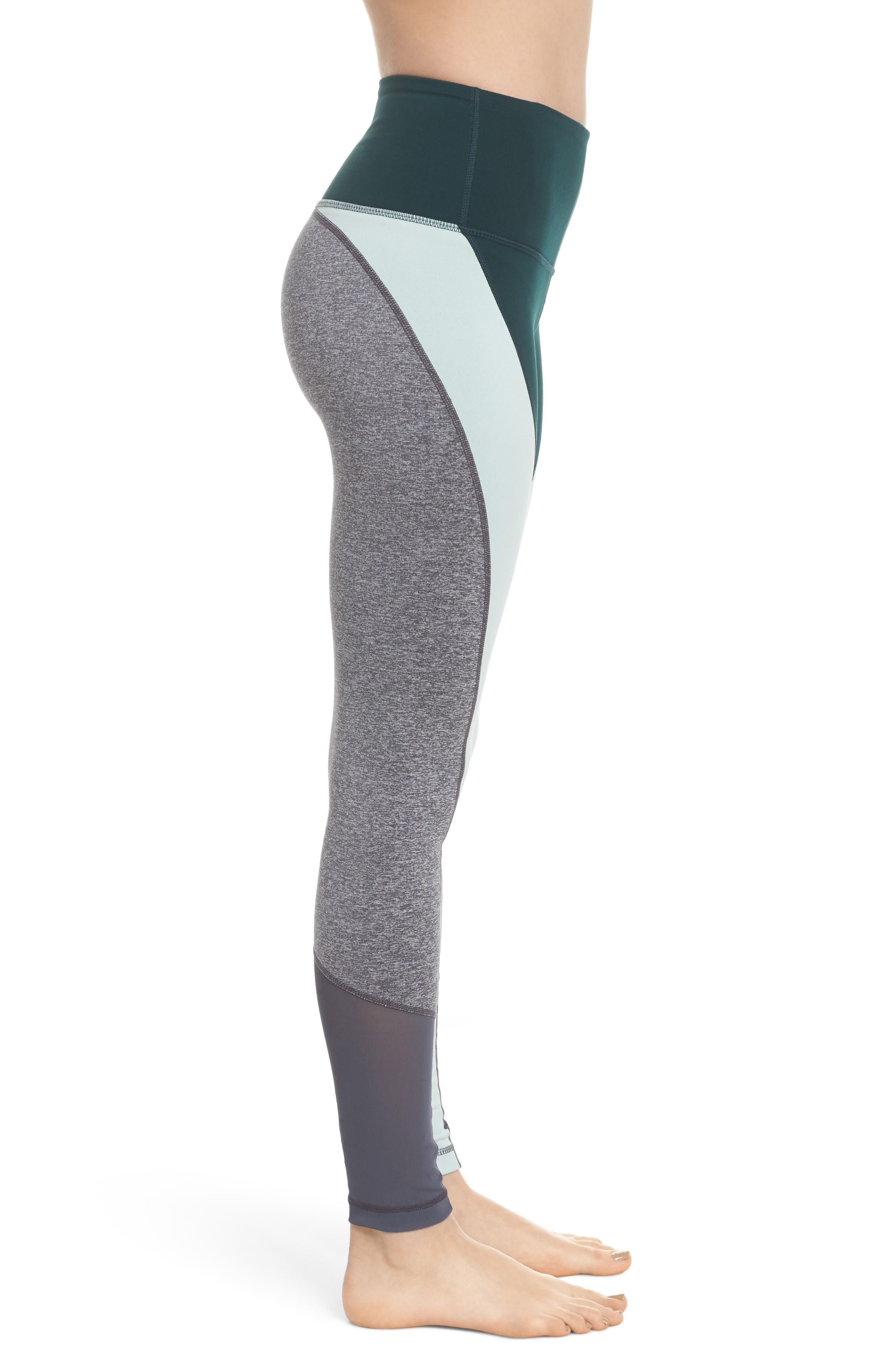 Get in Line High Waist Leggings,                             Alternate thumbnail 3, color,