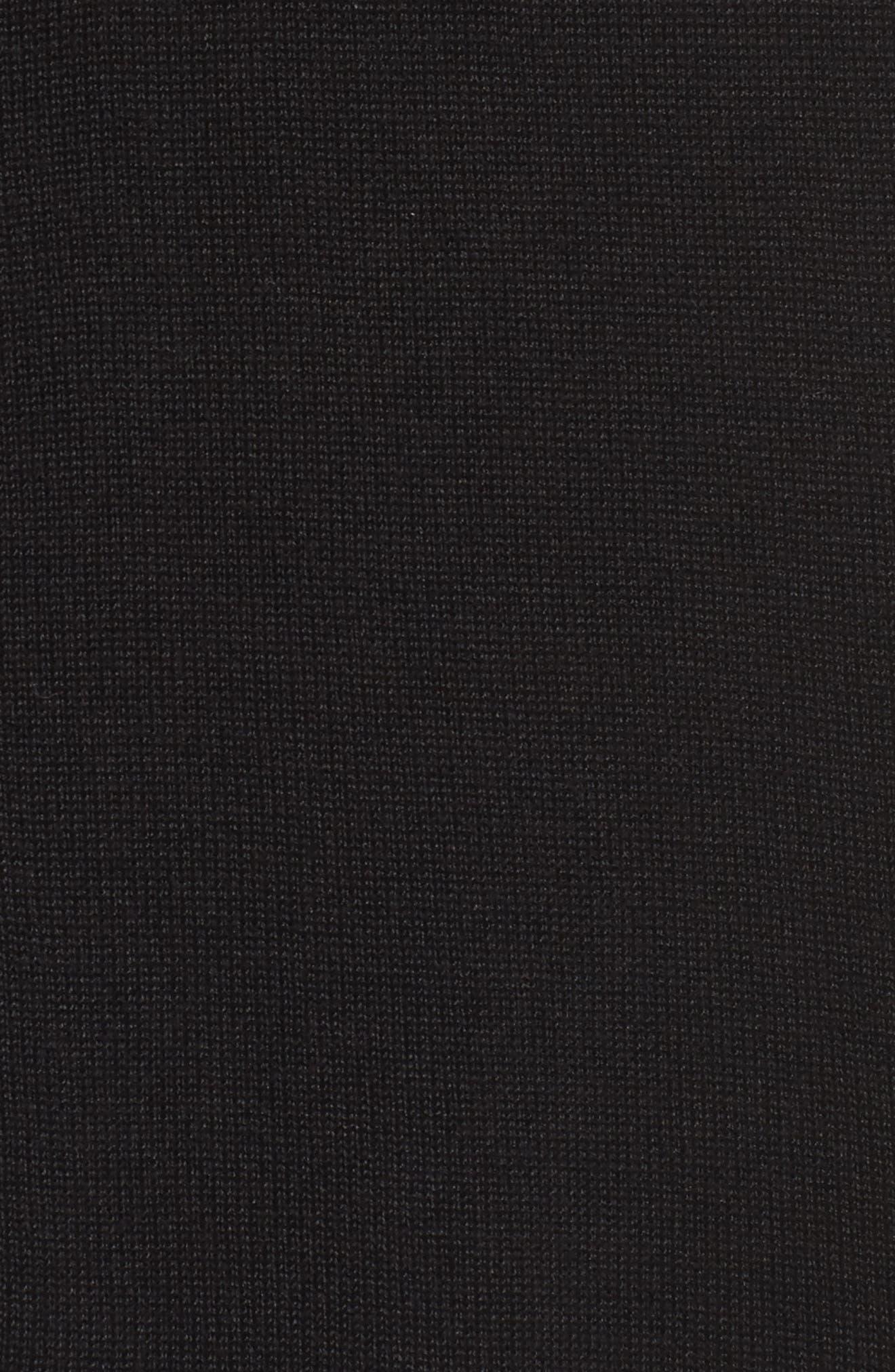 Grommet Open Front Cardigan,                             Alternate thumbnail 5, color,                             001