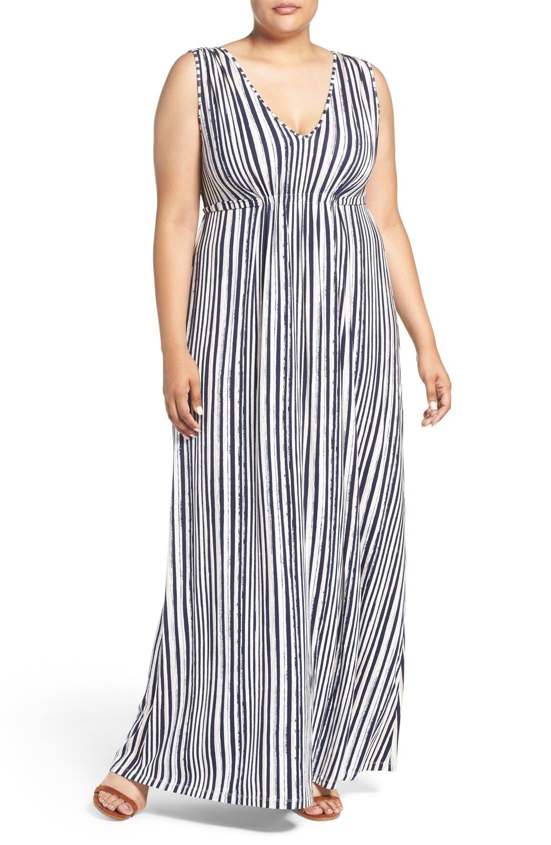 Grecia Sleeveless Jersey Maxi Dress,                             Main thumbnail 3, color,