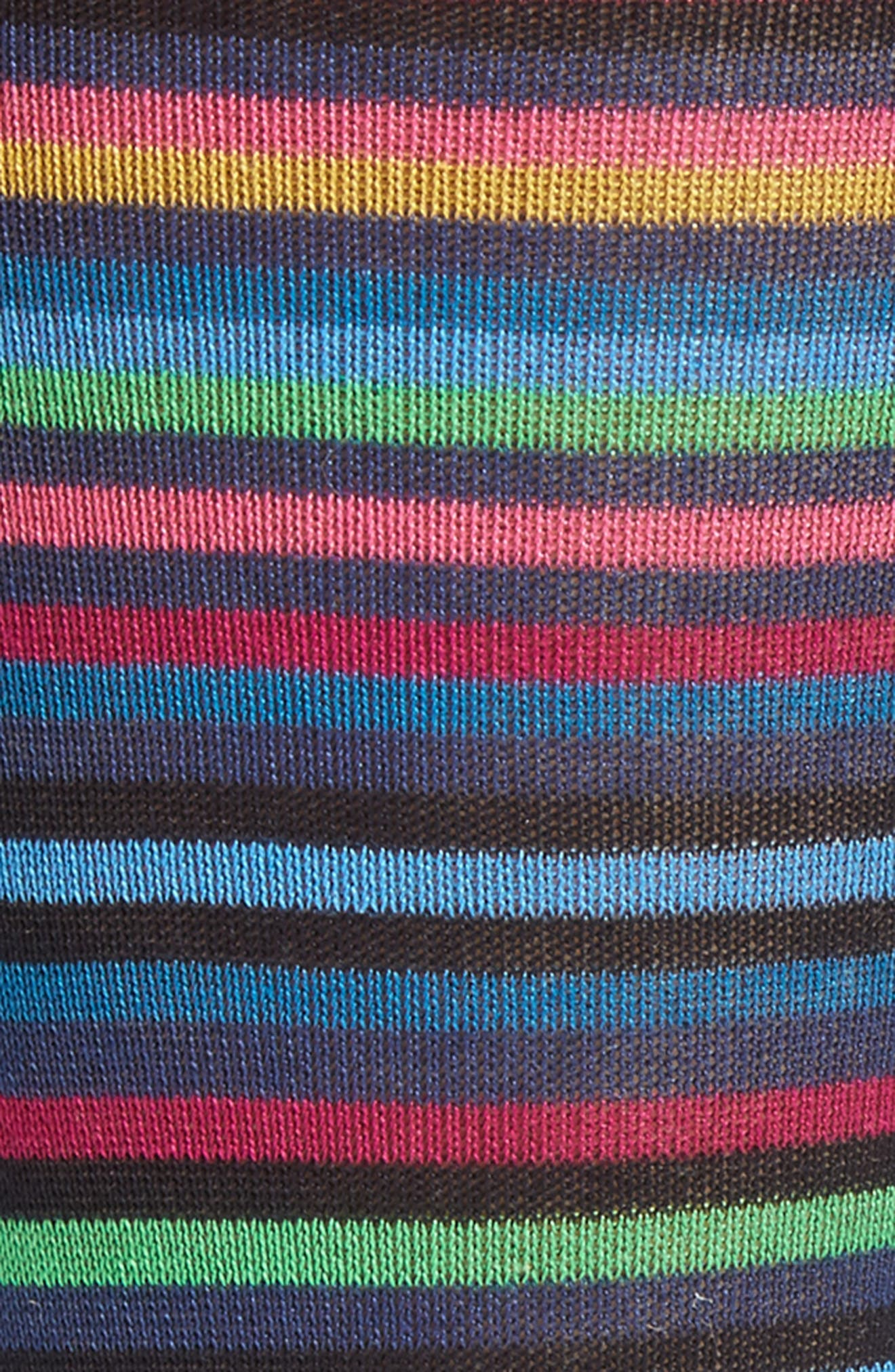 Multi Stripe Crew Socks,                             Alternate thumbnail 8, color,
