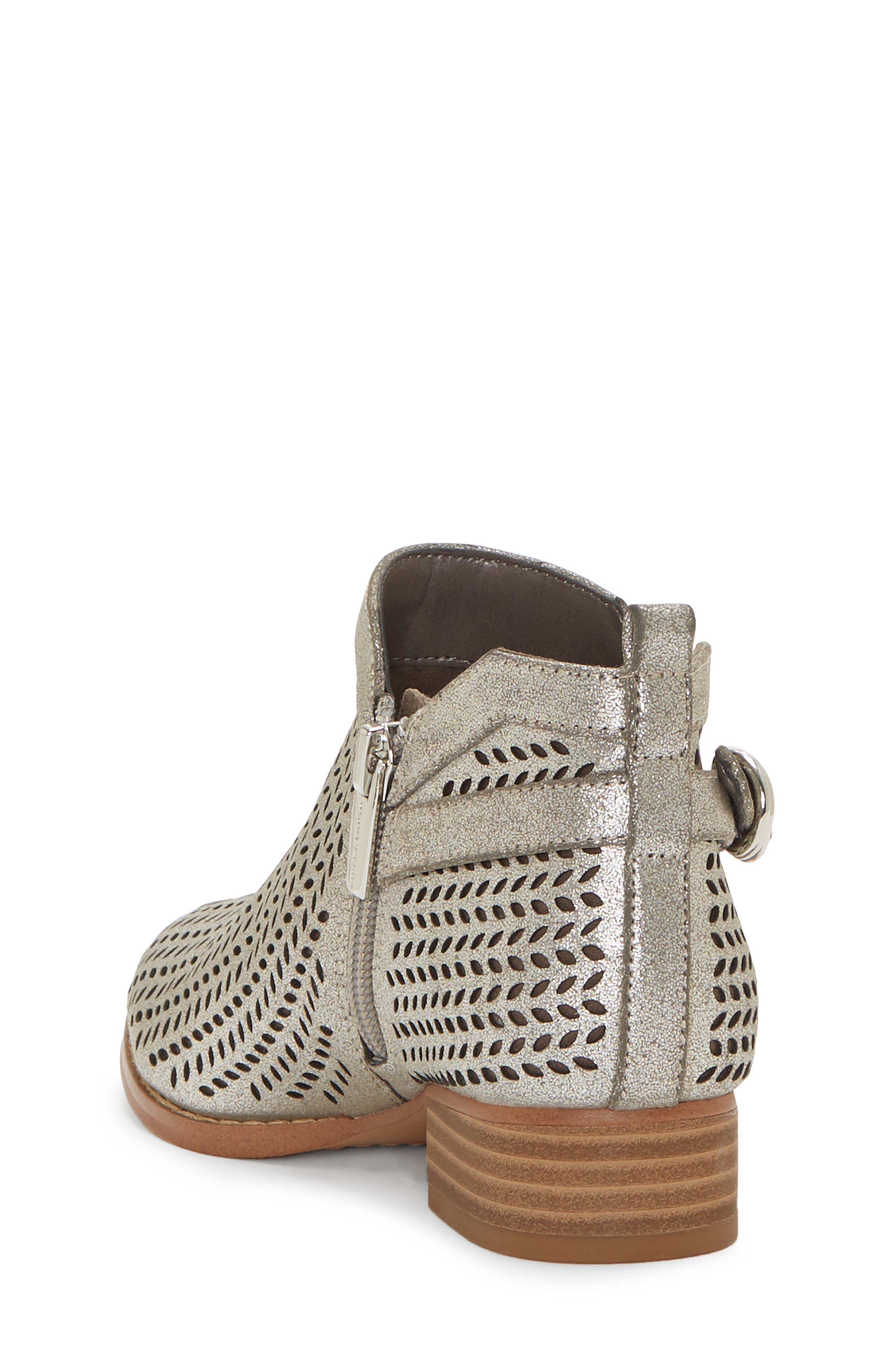 Campina Perforated Bootie,                             Alternate thumbnail 2, color,                             DARK SILVER/ TAUPE
