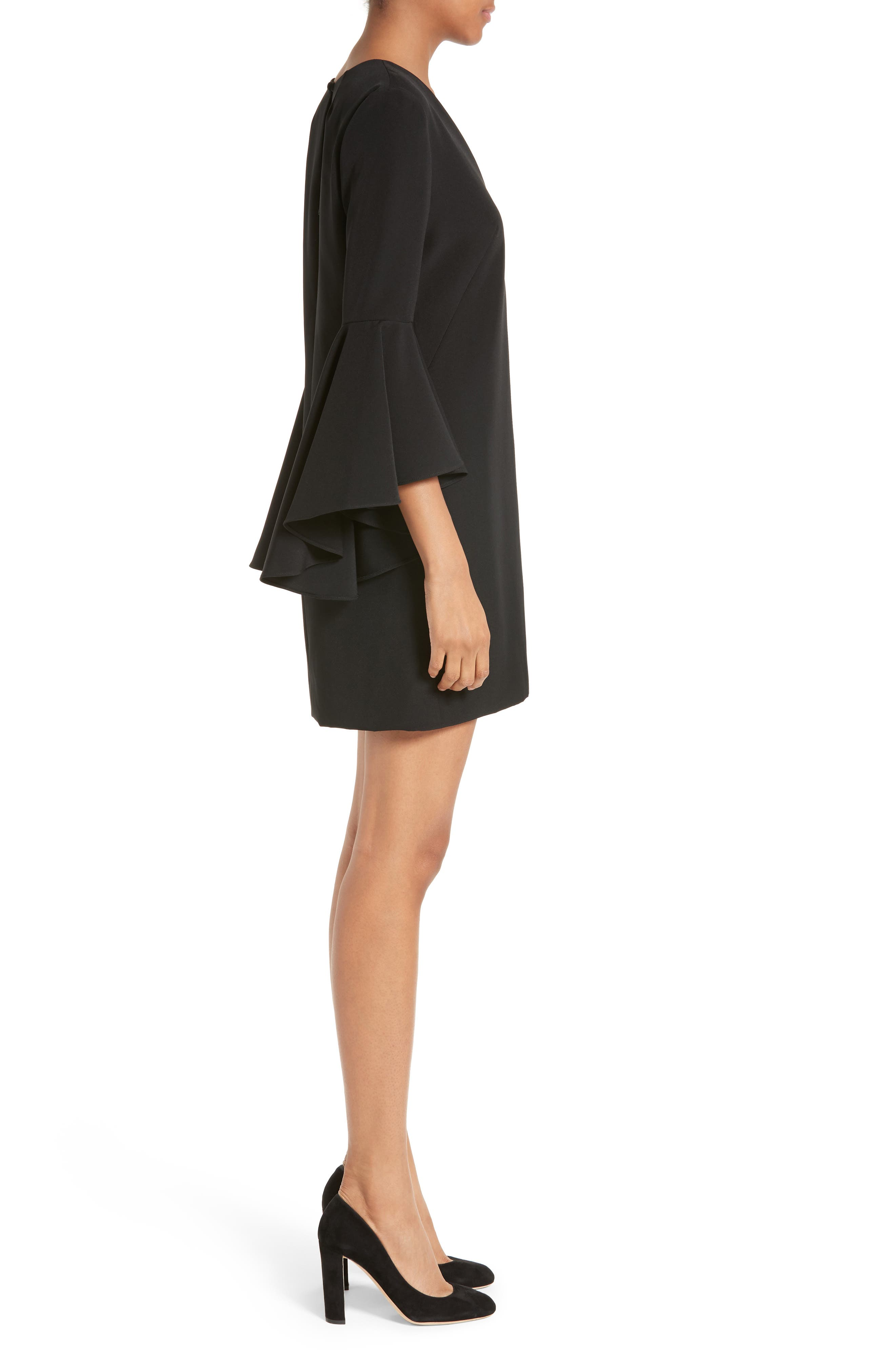 Nicole Bell Sleeve Dress,                             Alternate thumbnail 32, color,