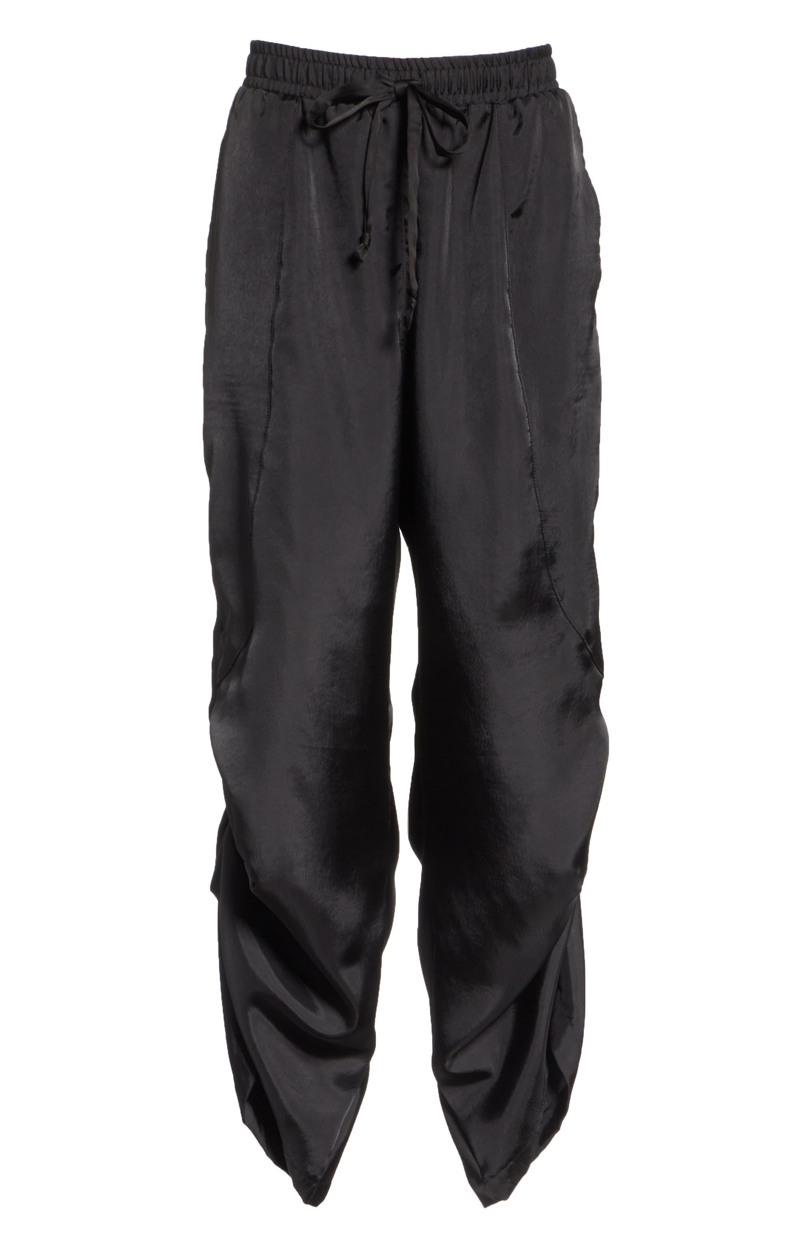 Fold Detail Jogger Pants,                             Alternate thumbnail 6, color,                             BLACK