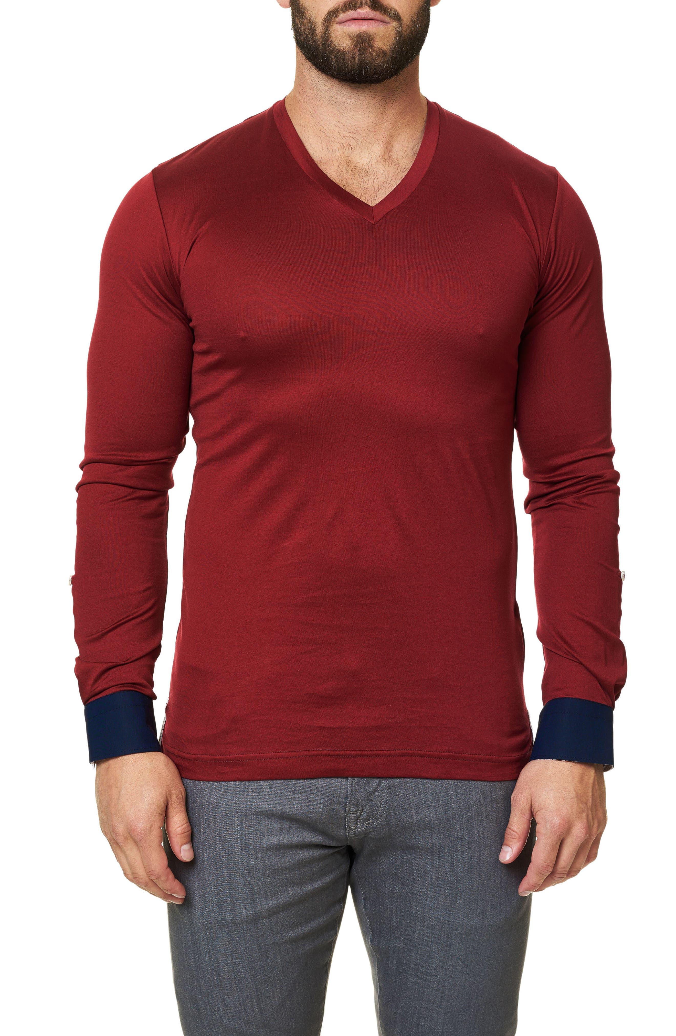Long Sleeve V-Neck,                         Main,                         color, 610