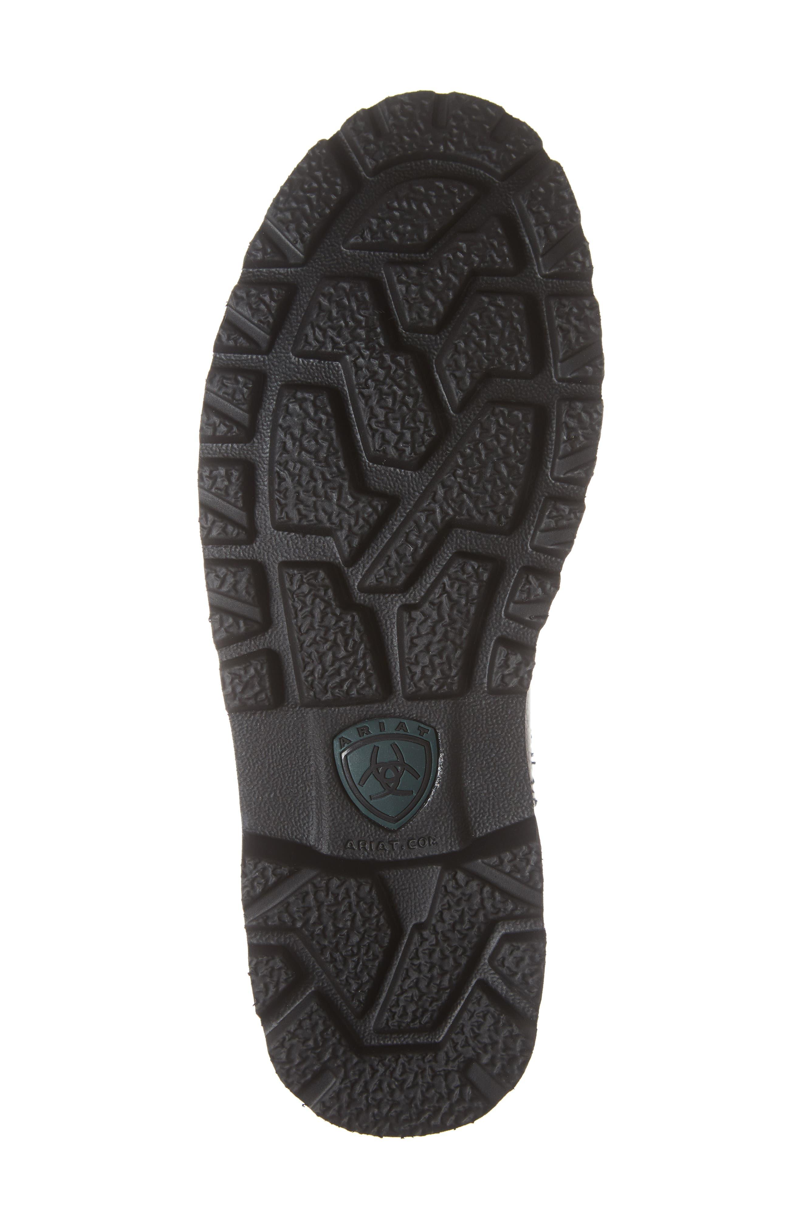 Spothog Chelsea Boot,                             Alternate thumbnail 6, color,                             BLACK DEER TAN LEATHER