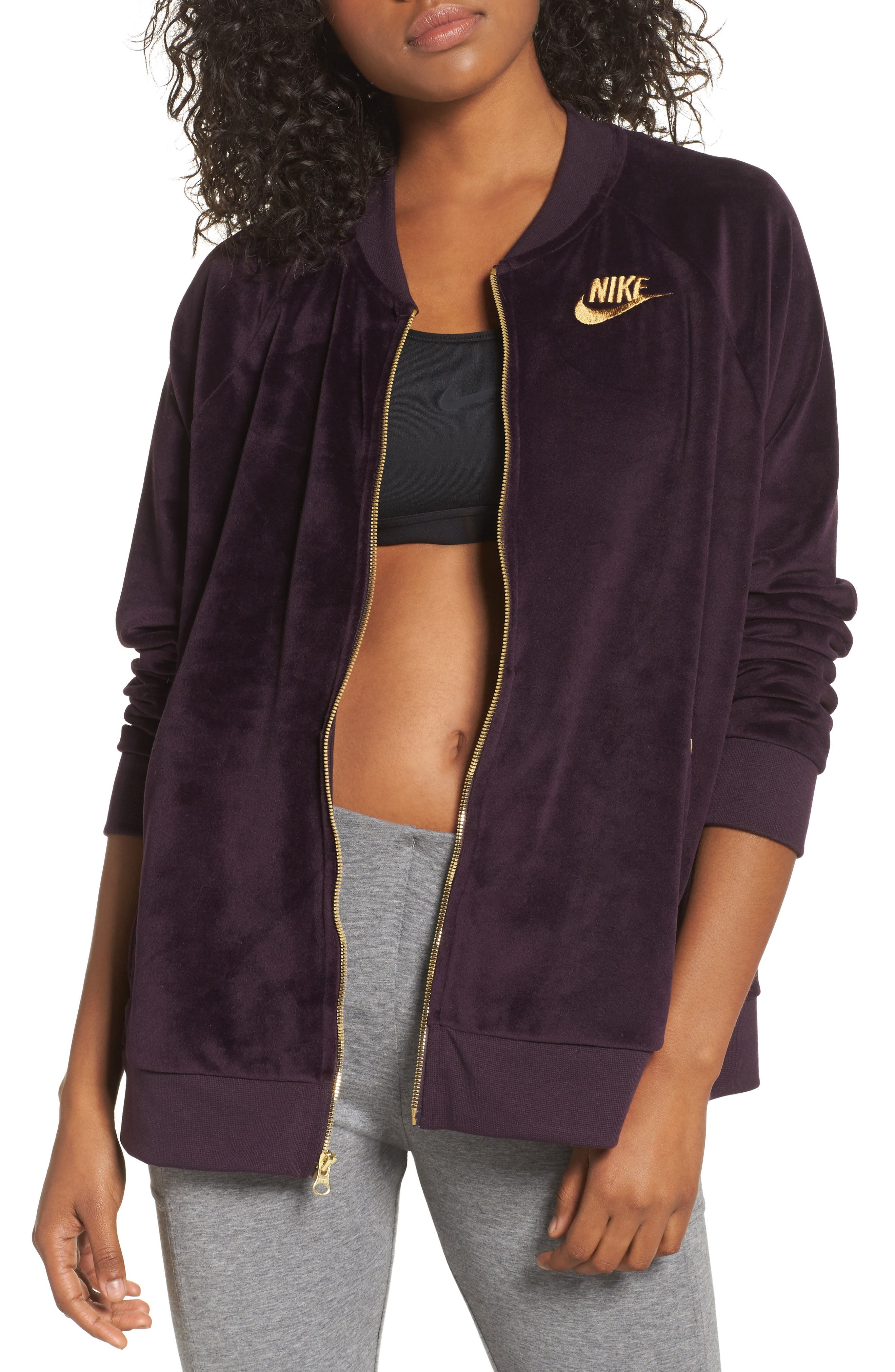 Velour Jacket,                             Main thumbnail 2, color,