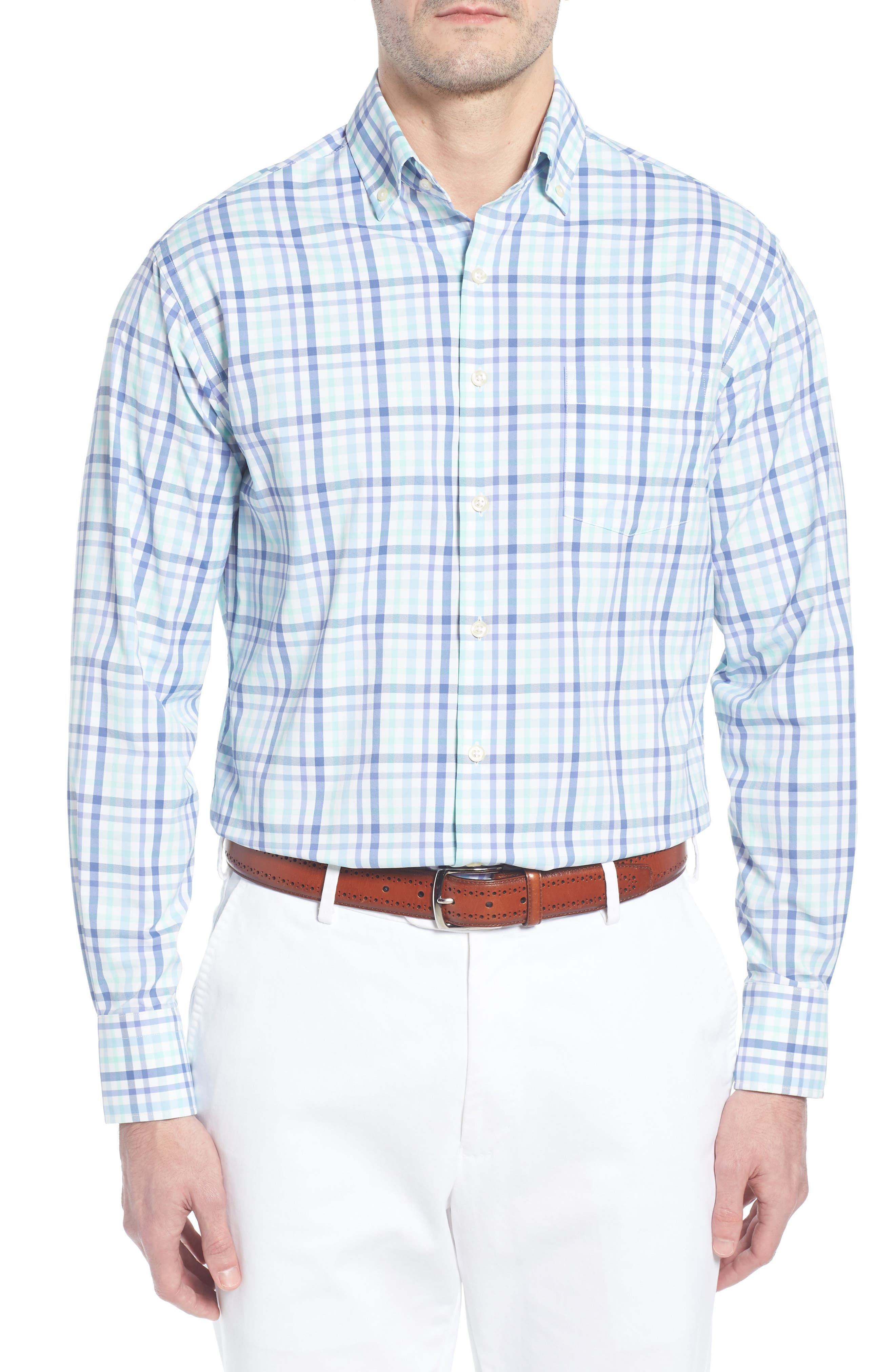 Jardine Check Performance Sport Shirt,                         Main,                         color, 423