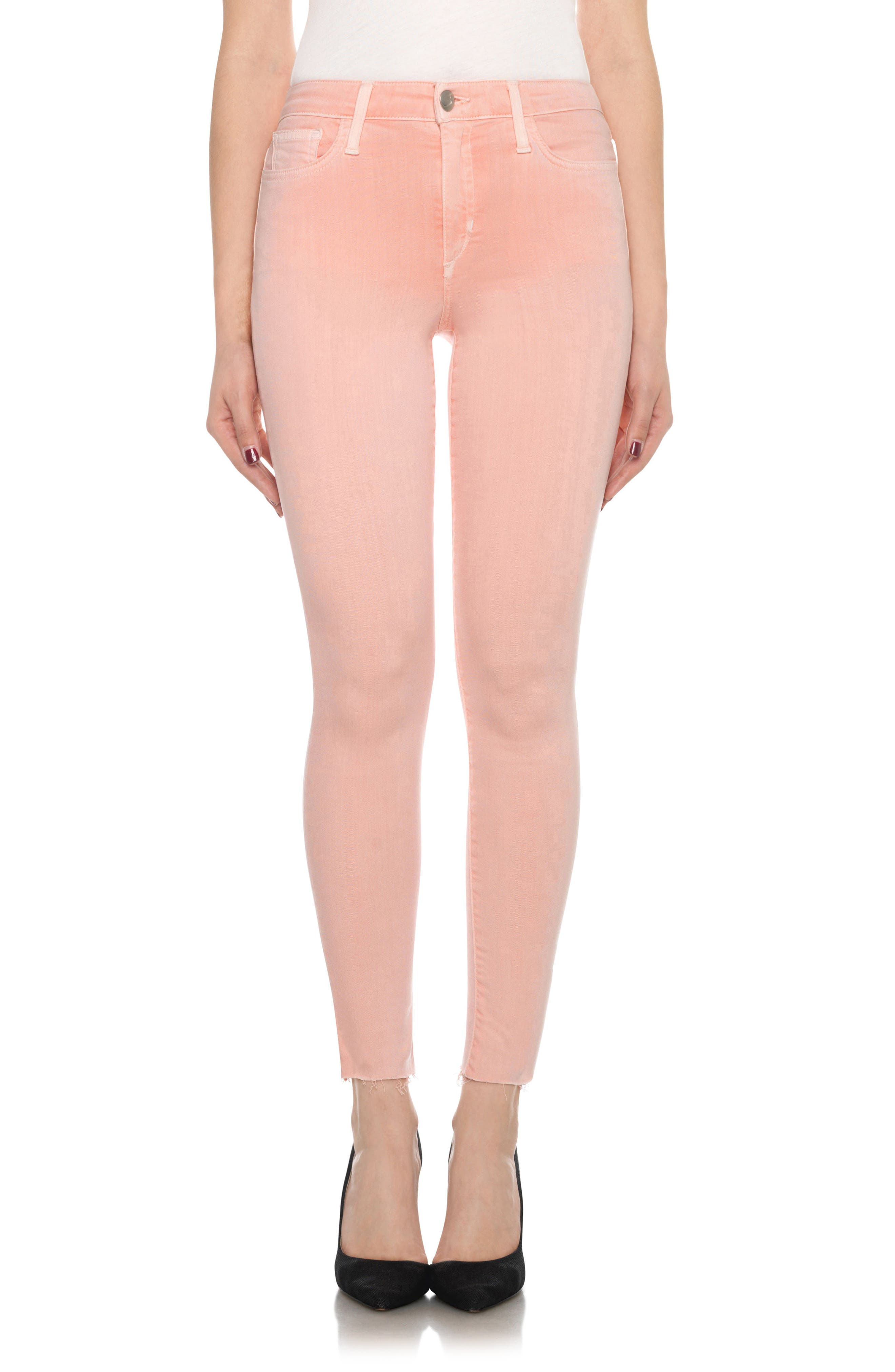 Charlie High Rise Ankle Skinny Jeans,                             Main thumbnail 9, color,